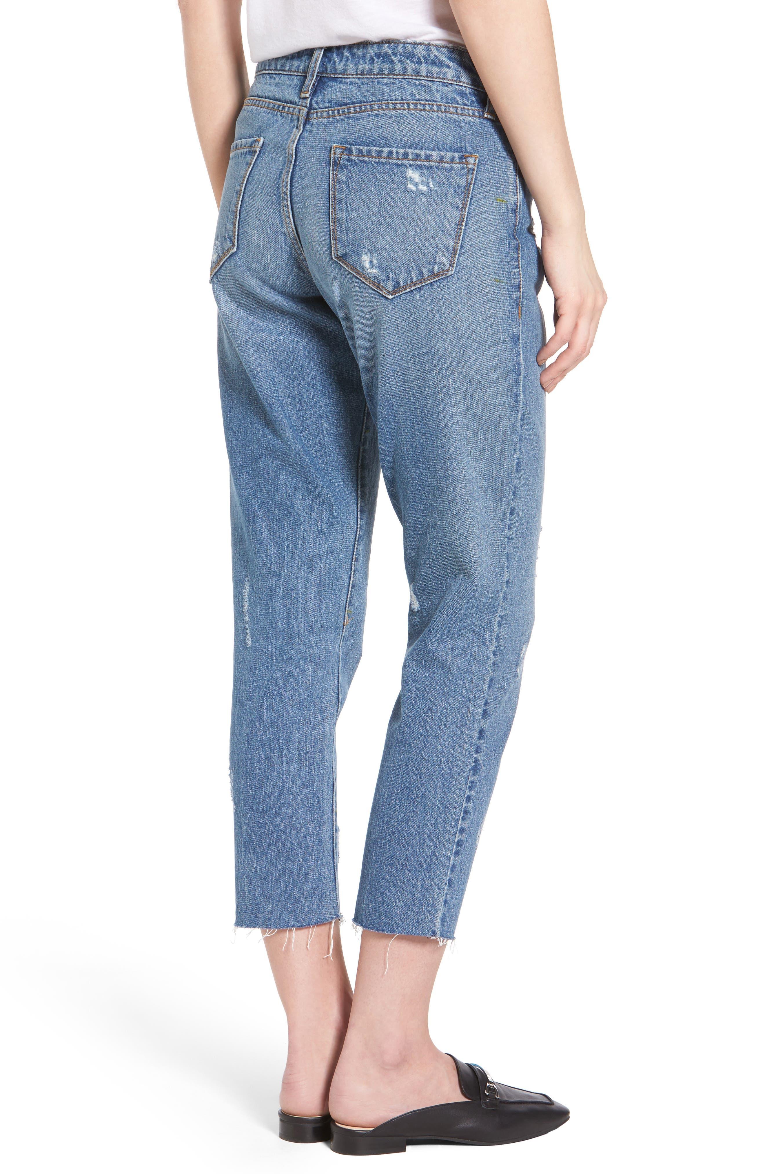 Taylor Ripped Crop Boyfriend Jeans,                             Alternate thumbnail 2, color,                             400