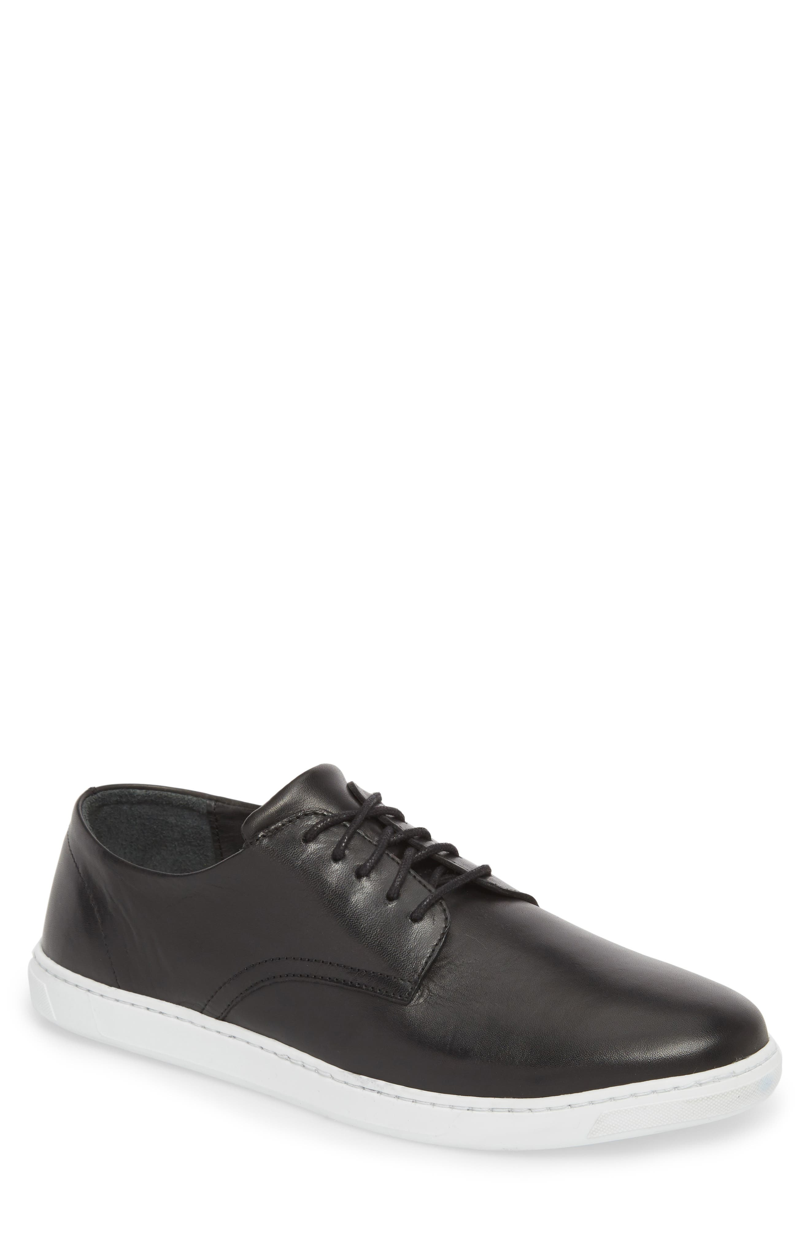 Nok Derby Sneaker,                             Main thumbnail 1, color,                             BLACK LEATHER