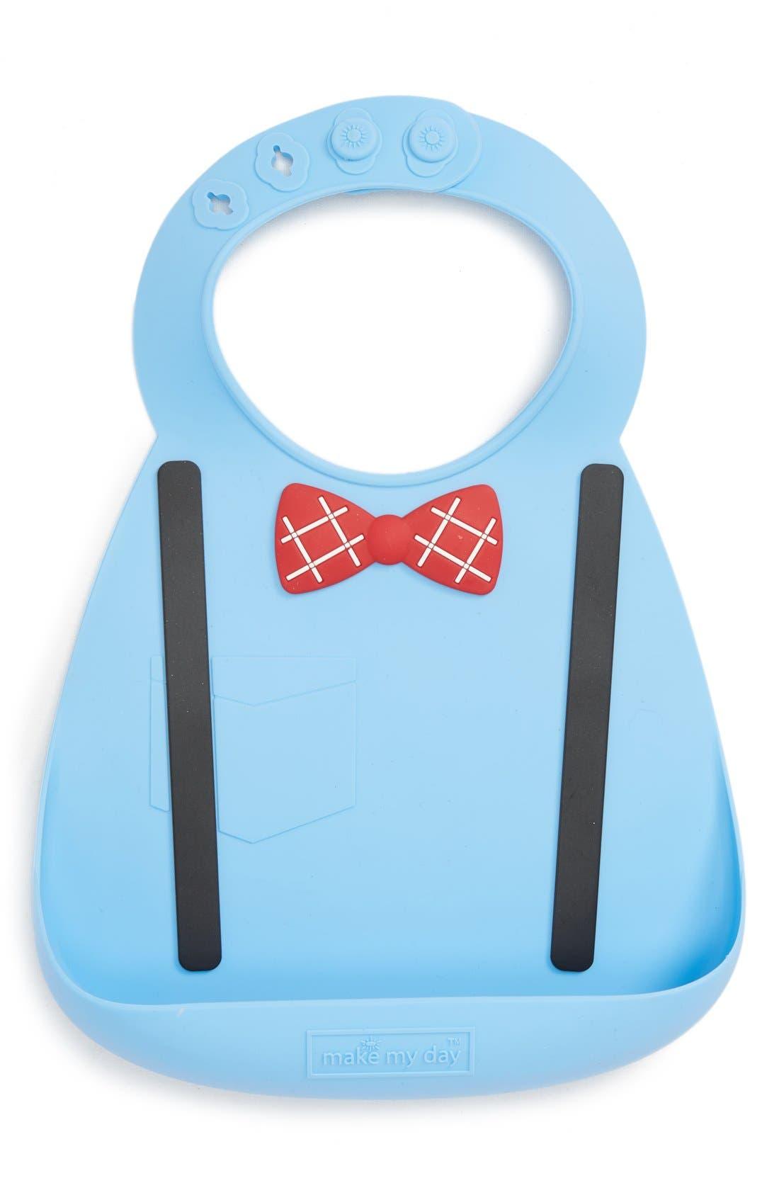 'Little Genius' Bib,                         Main,                         color, SCHOLAR BLUE