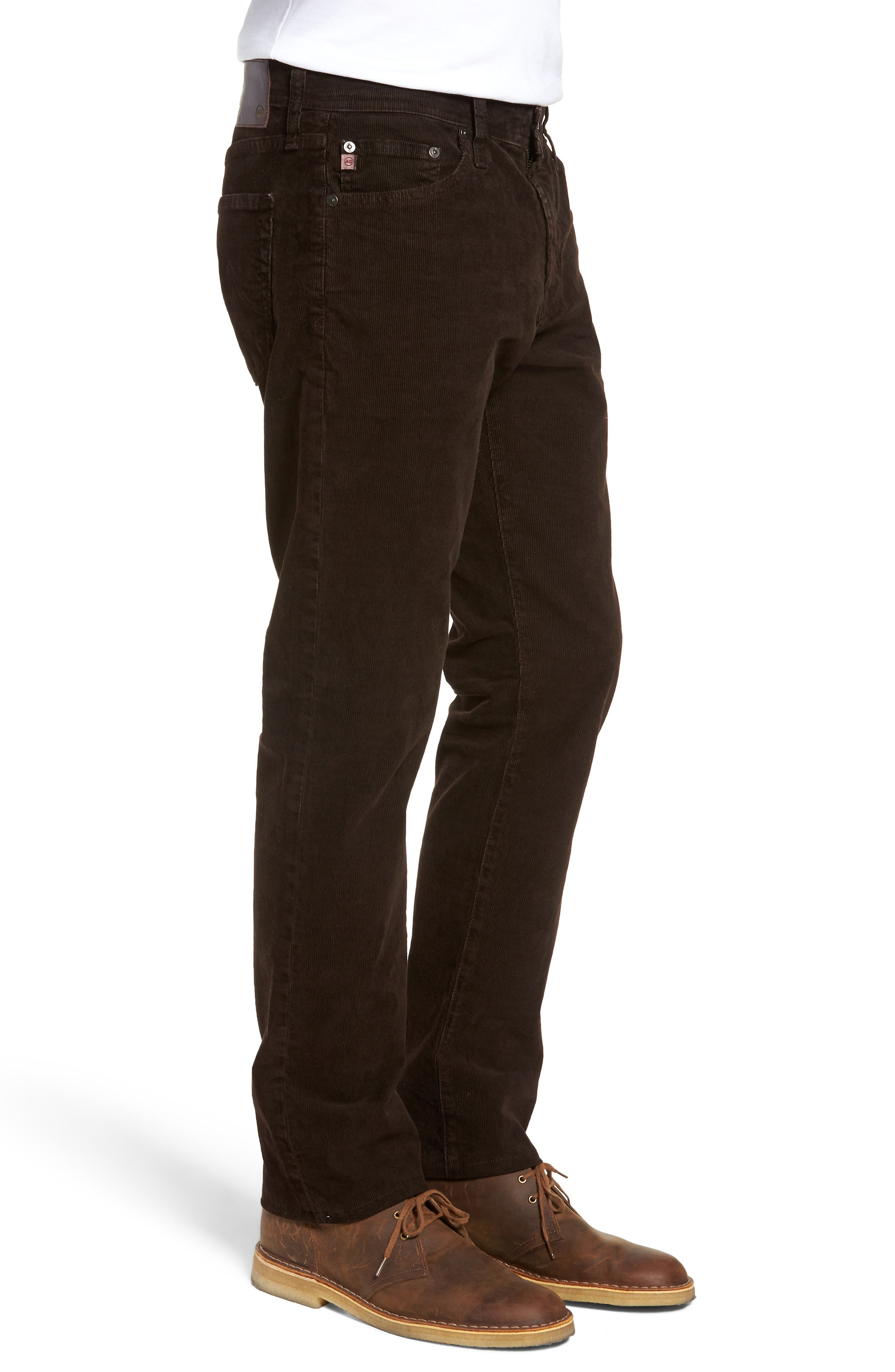 Everett Straight Leg Corduroy Pants,                             Alternate thumbnail 3, color,                             SULFUR SHUTTER
