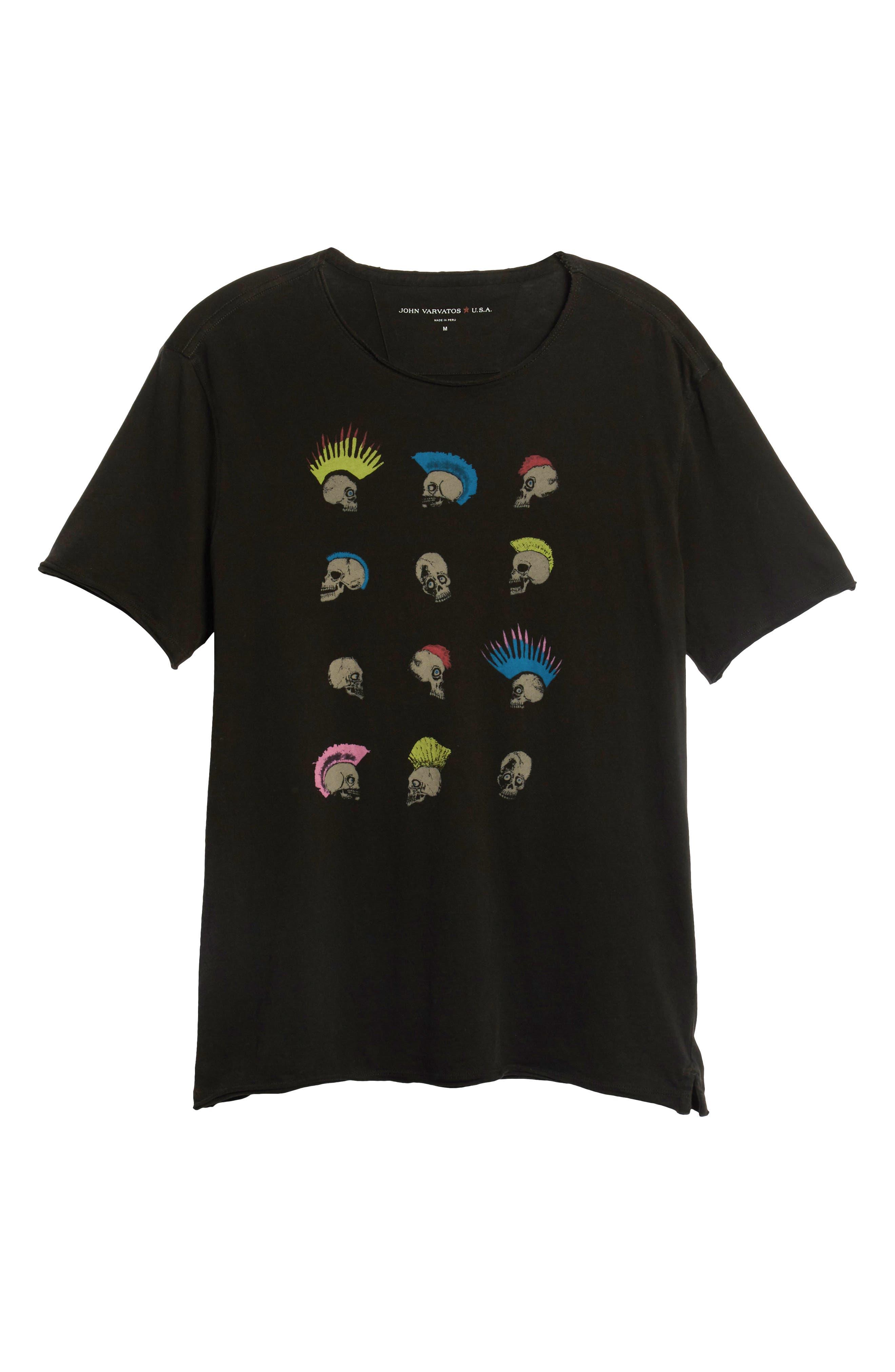 Skullhawks Graphic T-Shirt,                             Alternate thumbnail 6, color,                             BLACK