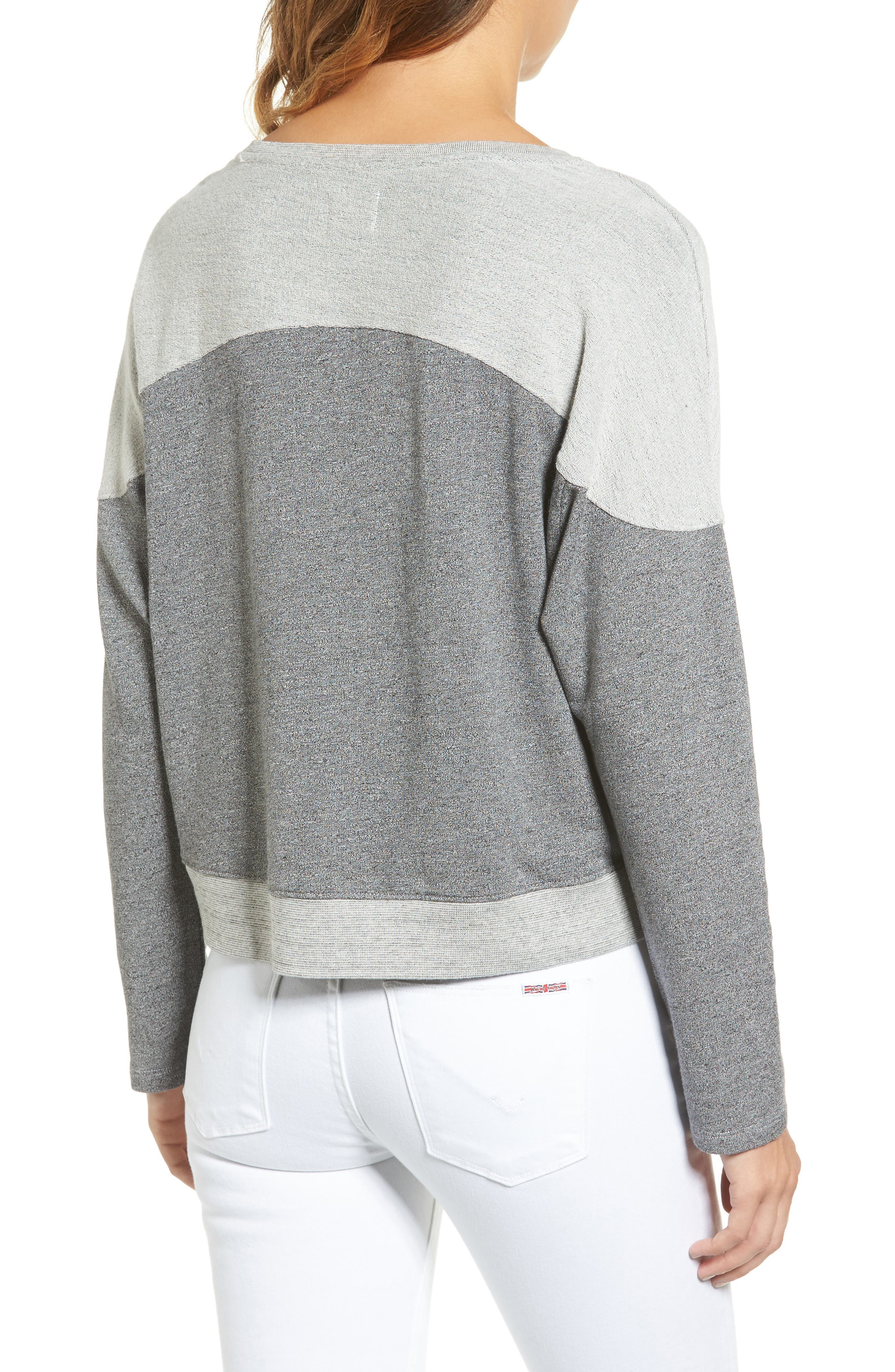 SUNDRY,                             Locals Only Crop Pullover,                             Alternate thumbnail 2, color,                             039