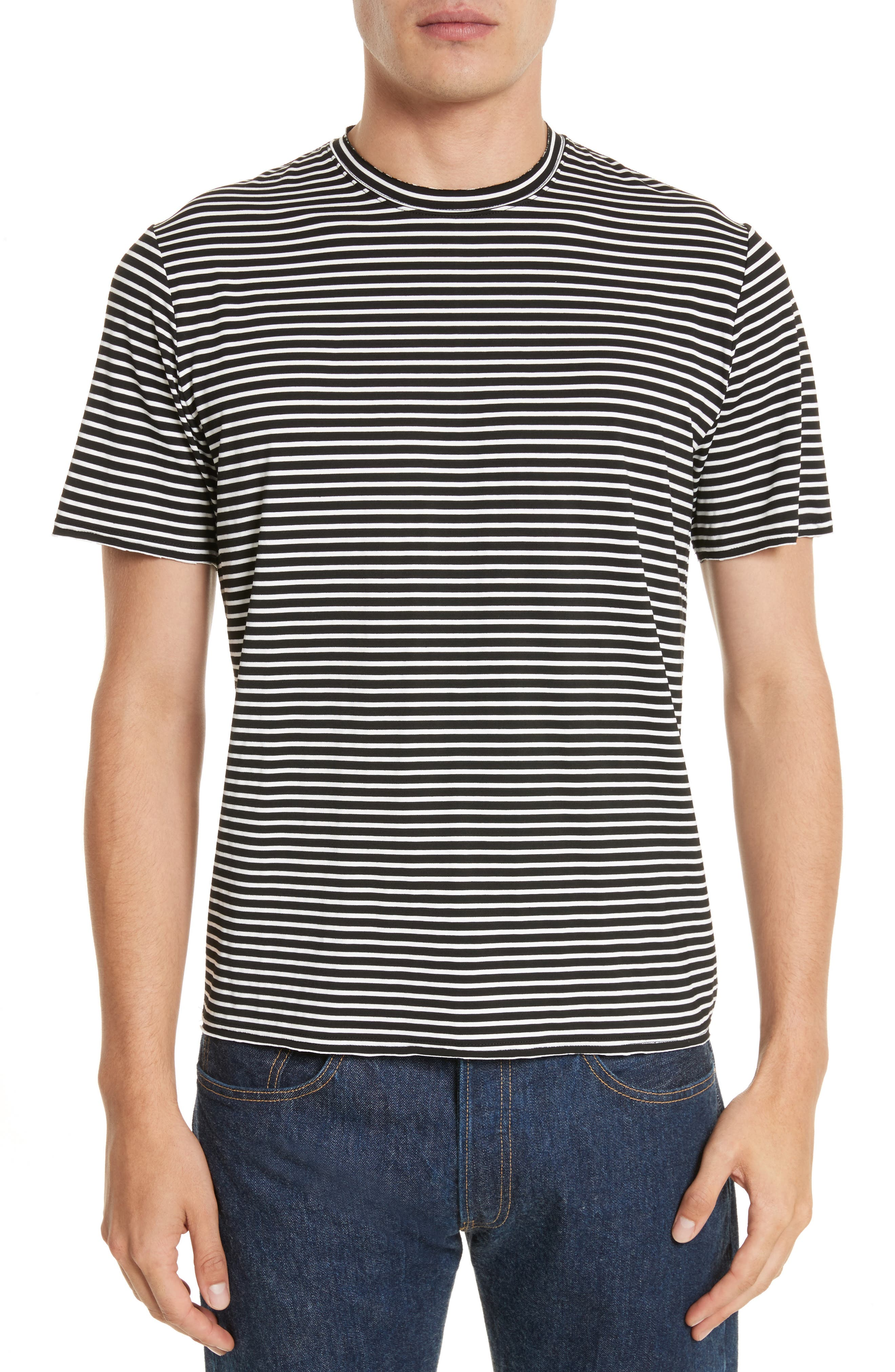 Raw Edge Stripe T-Shirt,                         Main,                         color, 008