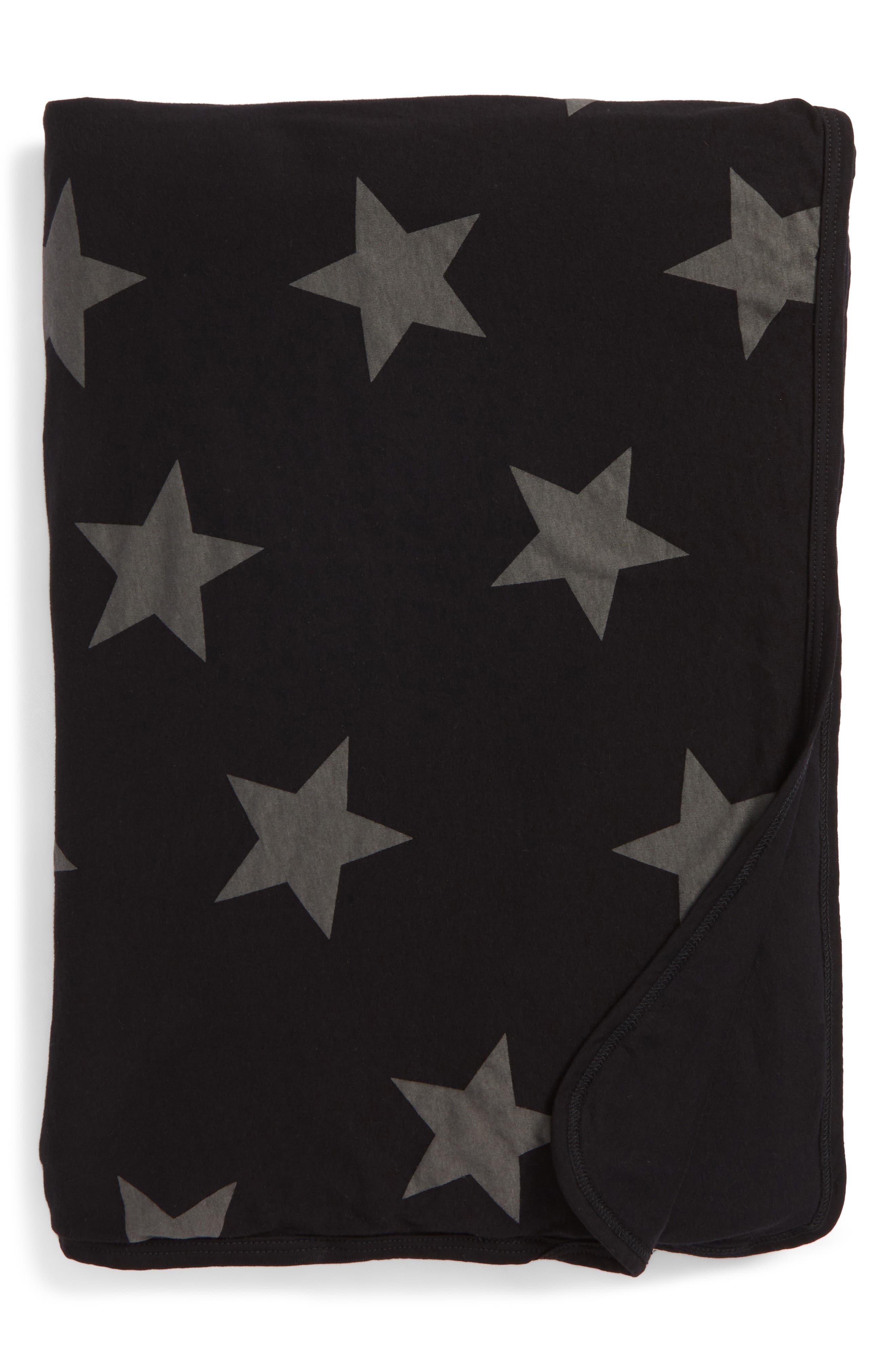 Star Print Blanket,                         Main,                         color, 001