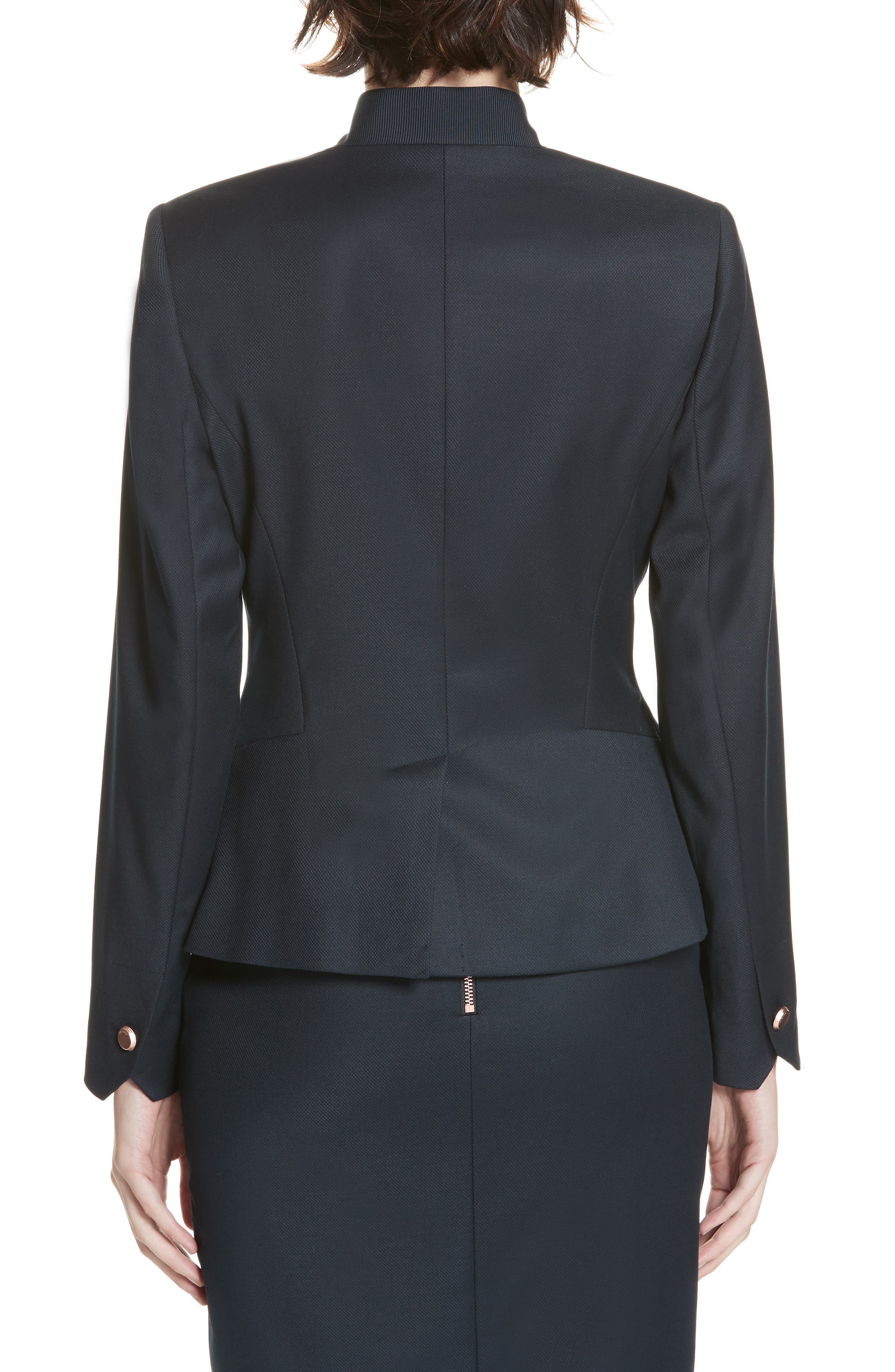 Ted Working Title Rivaa Tailored Jacket,                             Alternate thumbnail 2, color,                             DARK BLUE