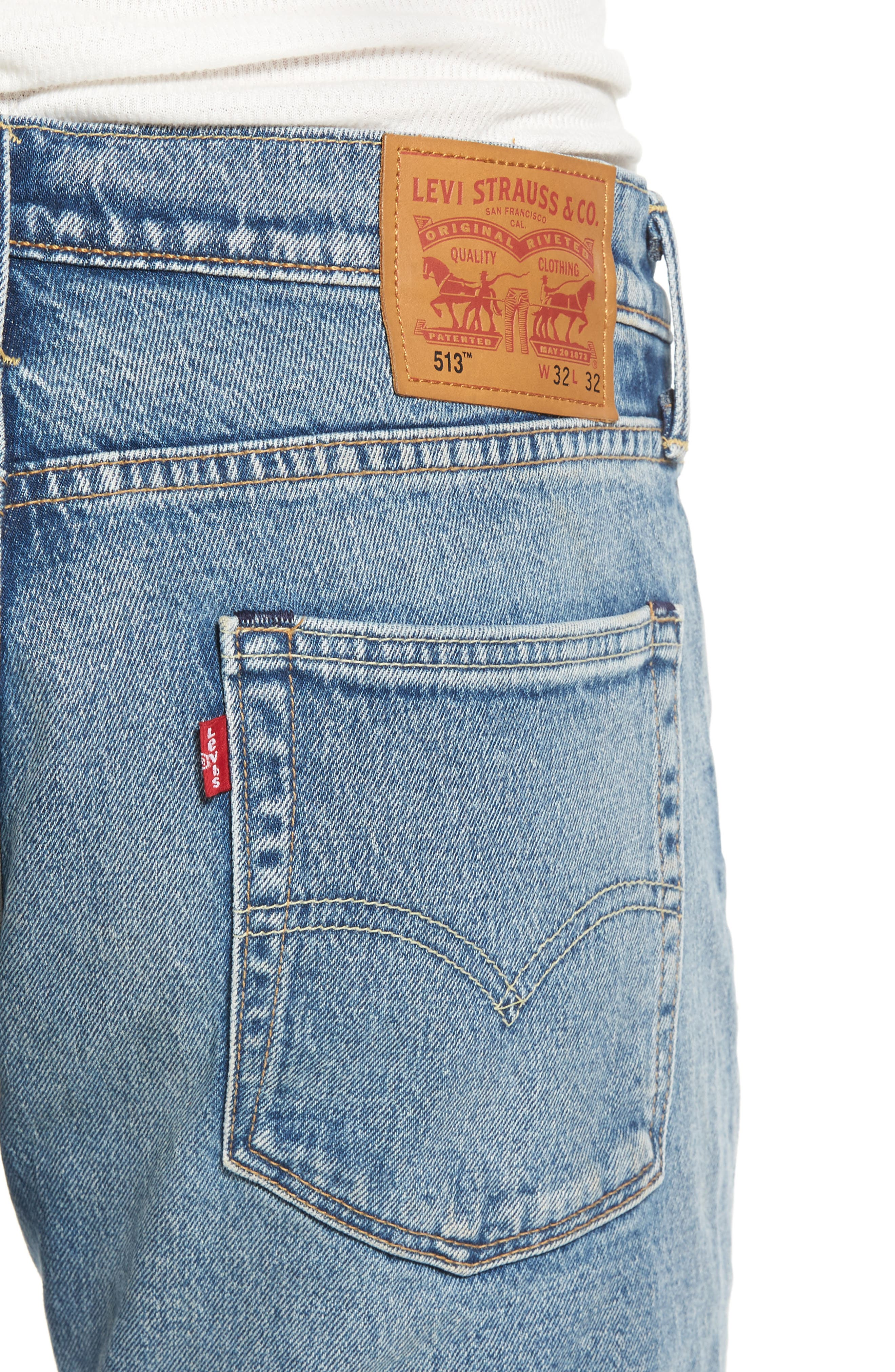 513<sup>™</sup> Slim Straight Leg Jeans,                             Alternate thumbnail 4, color,                             451