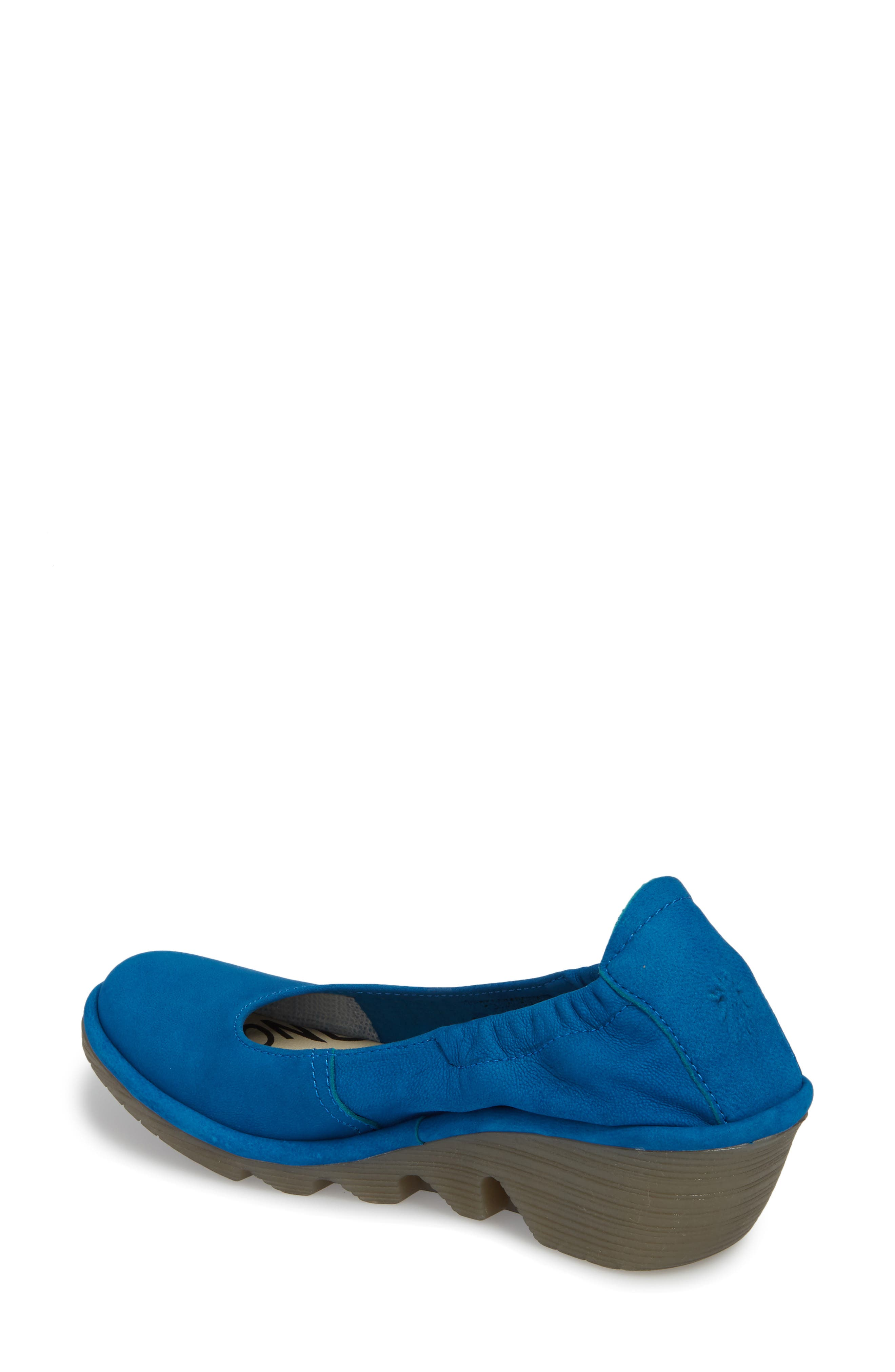 Pled Wedge,                             Alternate thumbnail 2, color,                             ELECTRIC BLUE CUPIDO LEATHER