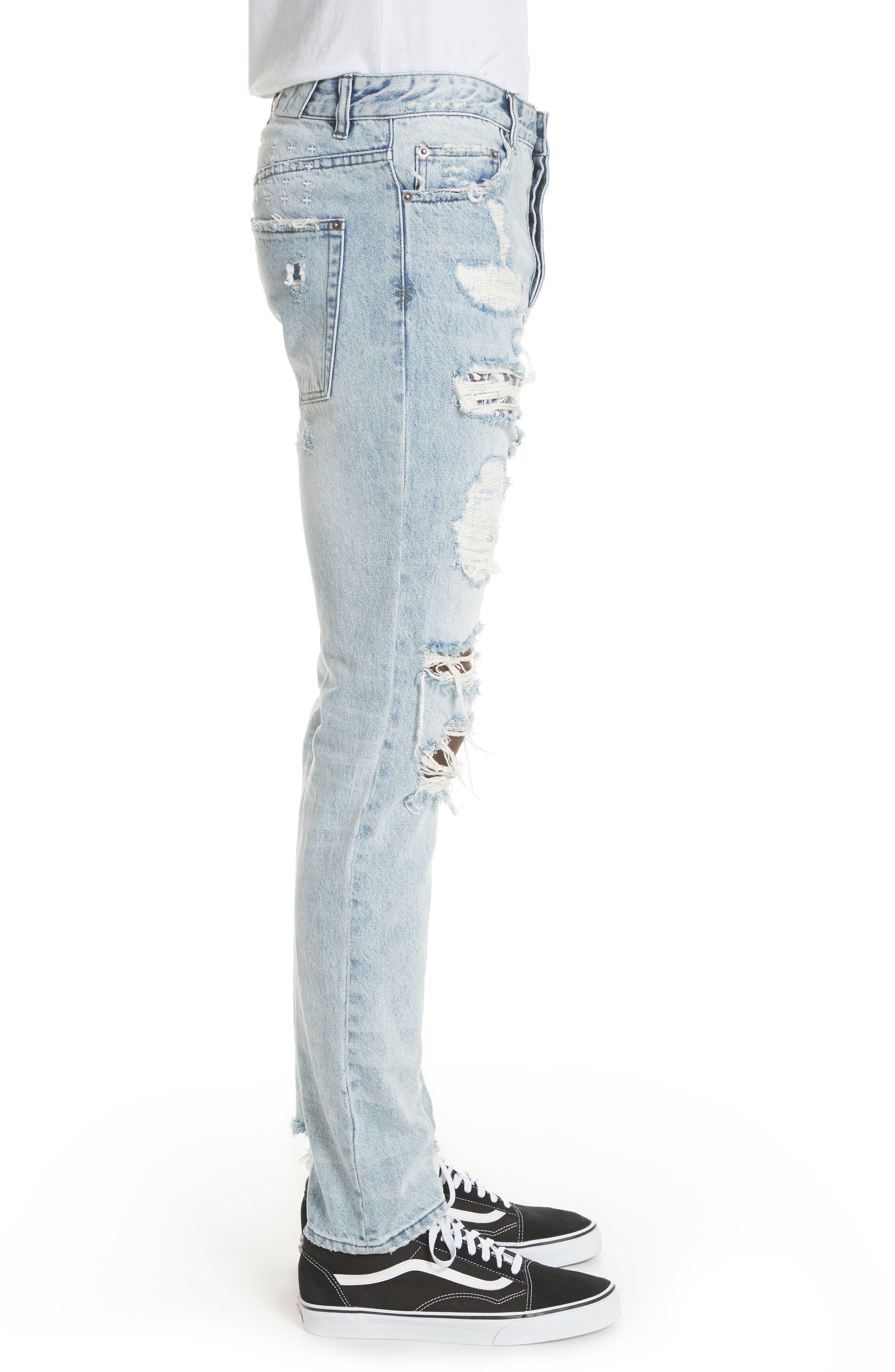 Chitch Tropo Trash Jeans,                             Alternate thumbnail 3, color,                             DENIM