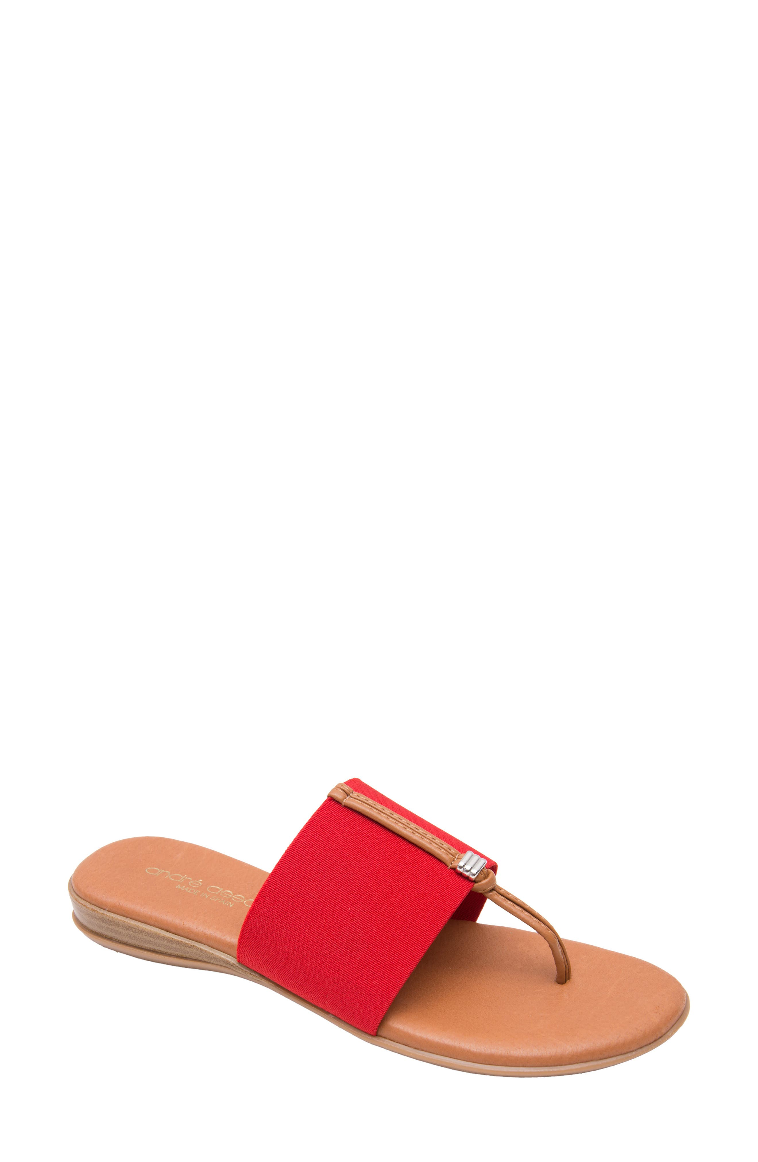 ANDRE ASSOUS Nice Sandal in Red Fabric