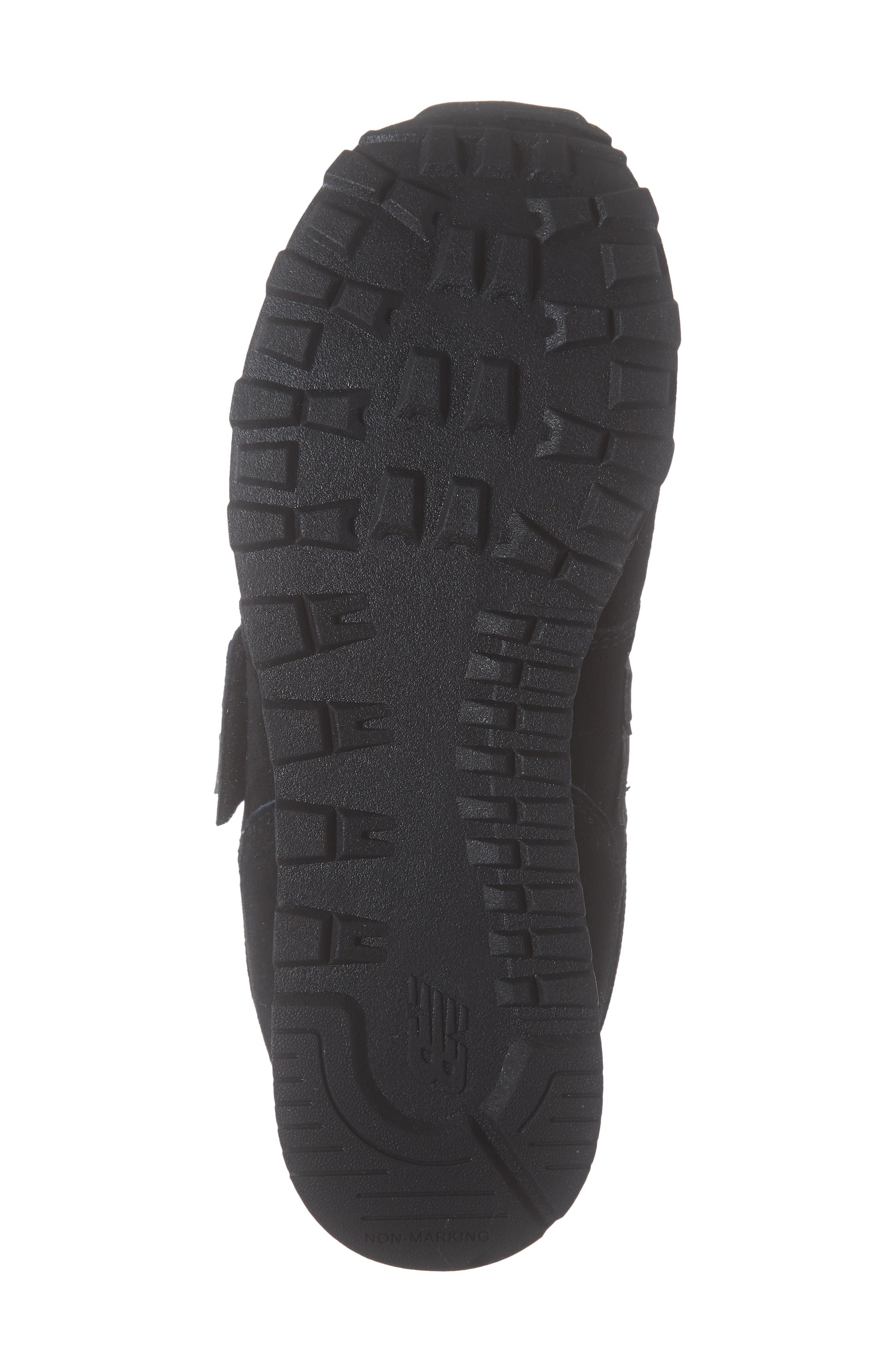 NEW BALANCE,                             574 Retro Surf Sneaker,                             Alternate thumbnail 6, color,                             BLACK/ BLACK