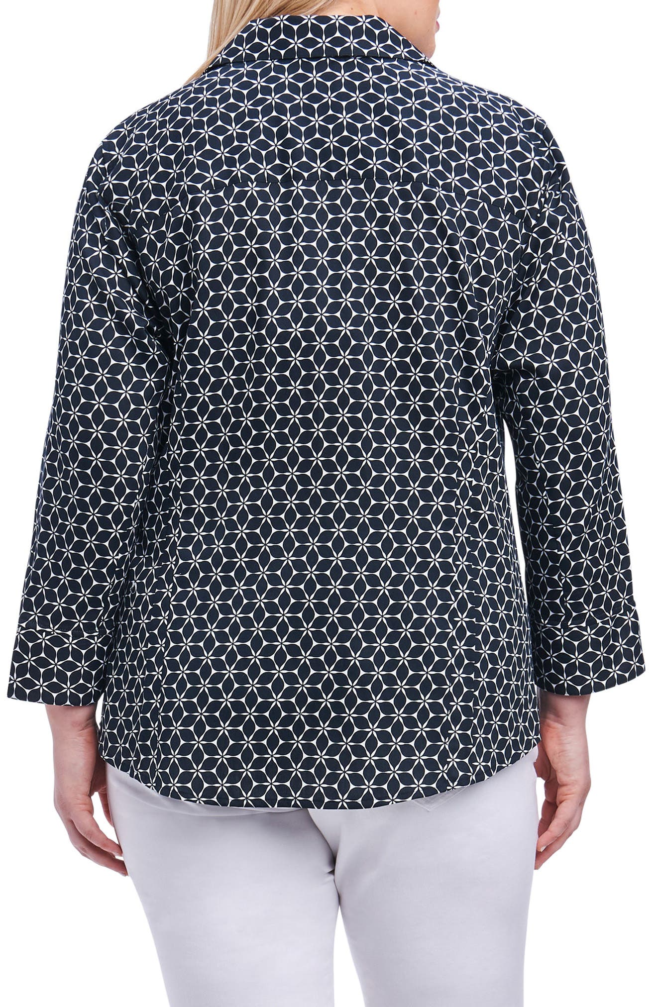 Taylor Optic Floral Print Shirt,                             Alternate thumbnail 2, color,