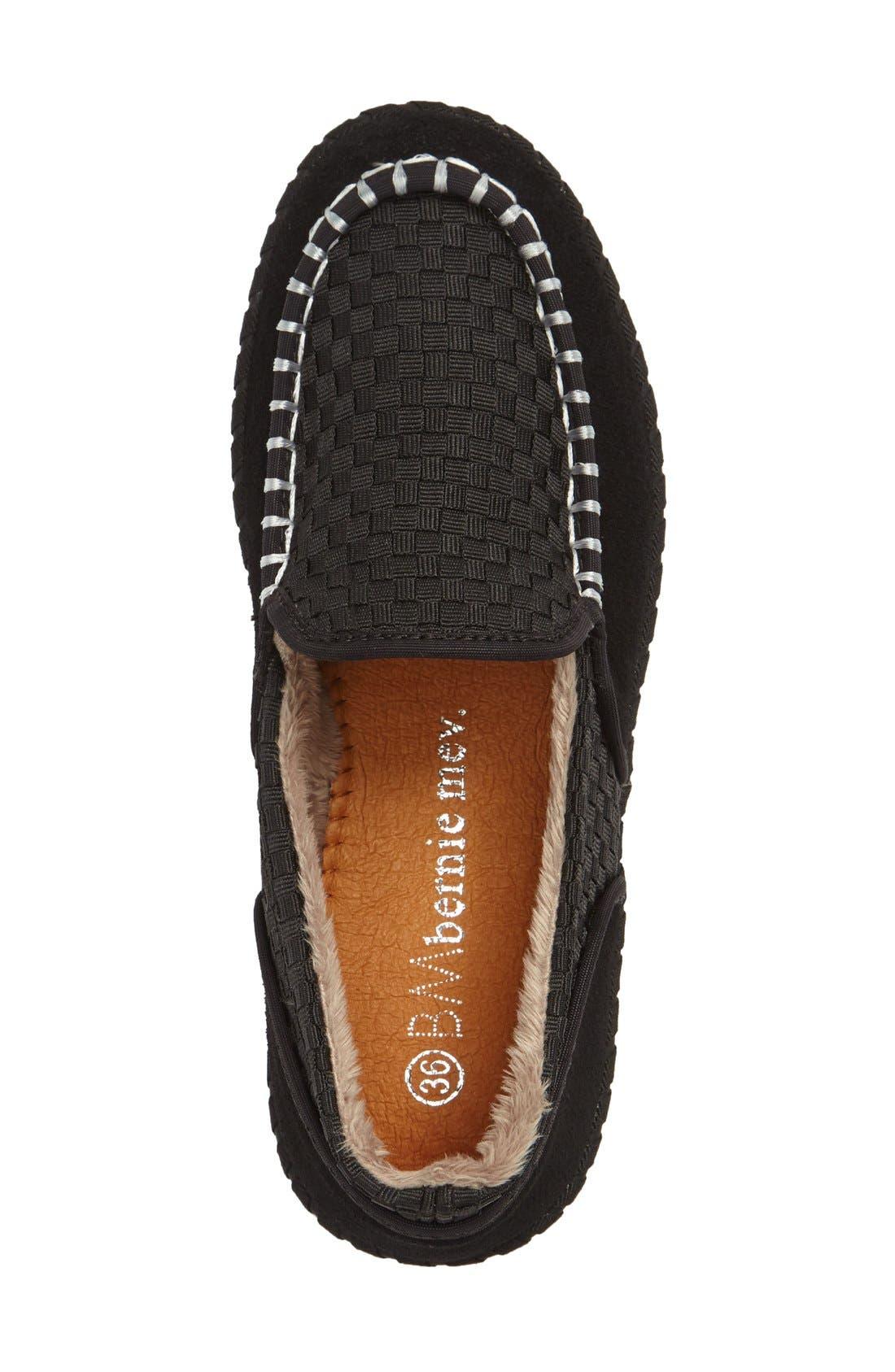 Faux Fur Lined Loafer Slipper,                             Alternate thumbnail 3, color,                             001