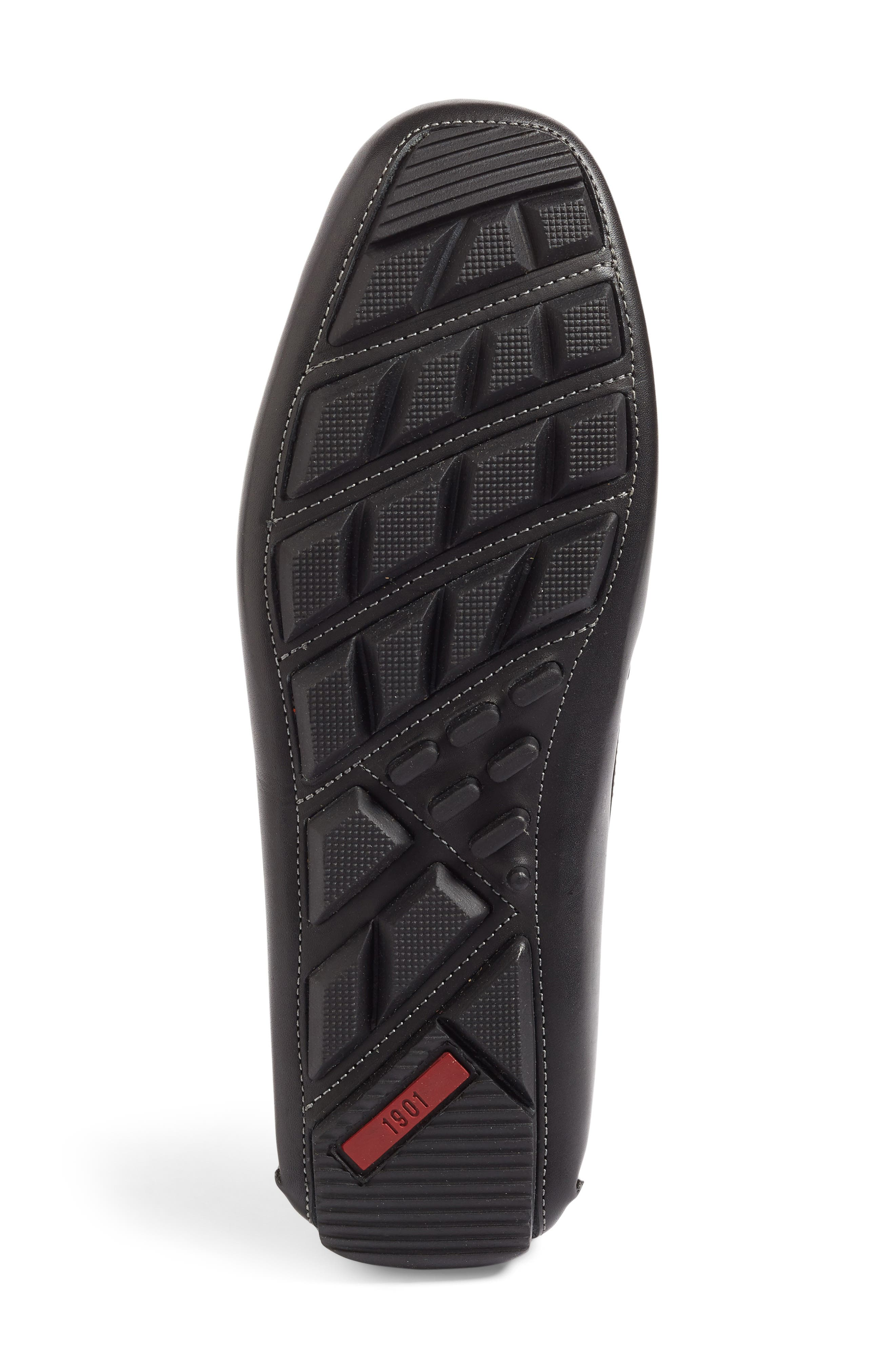 Marco Driving Shoe,                             Alternate thumbnail 4, color,                             BLACK LEATHER