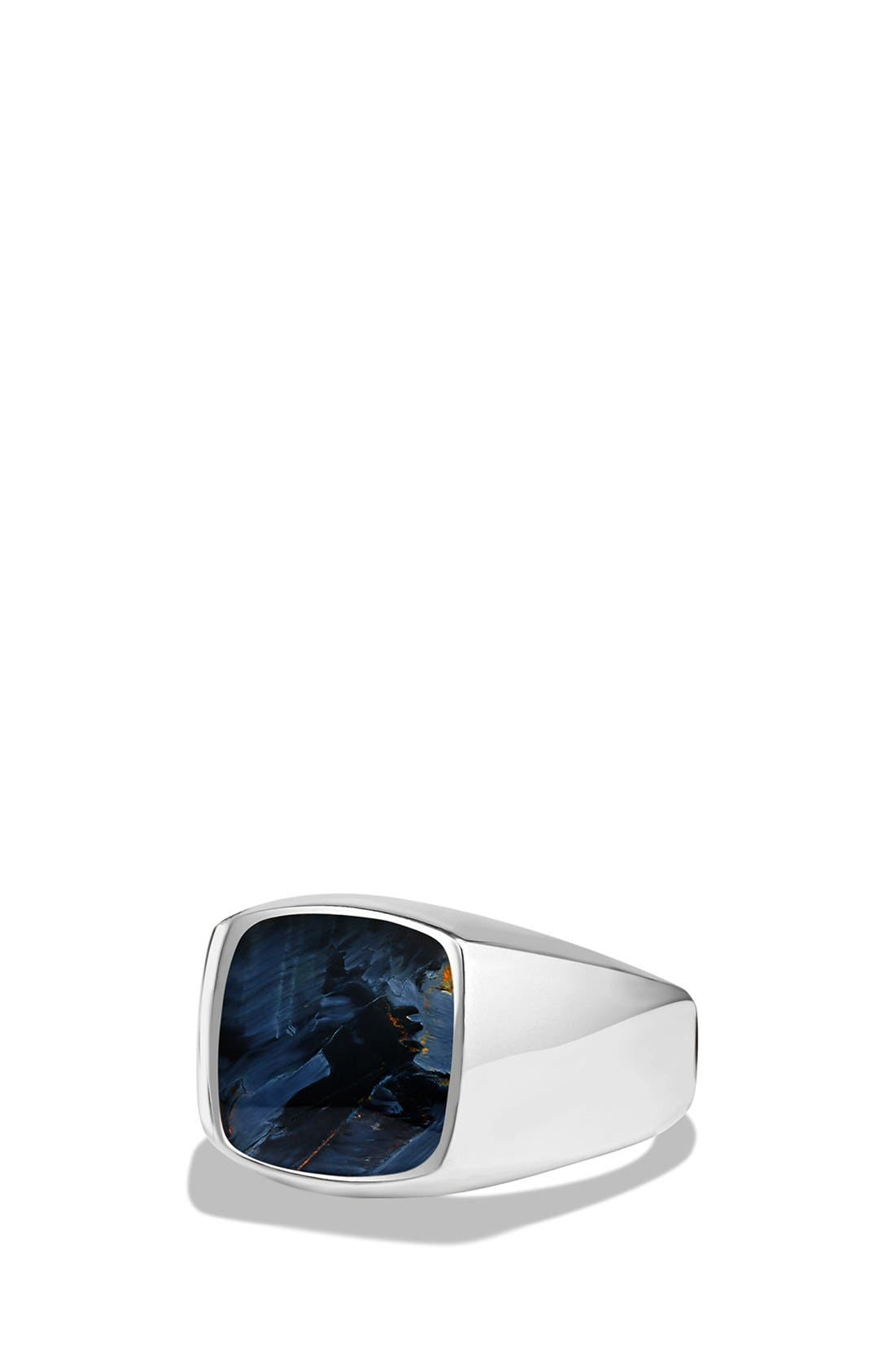 'Exotic Stone' Signet Ring in Silver,                             Main thumbnail 1, color,                             PIETERSITE