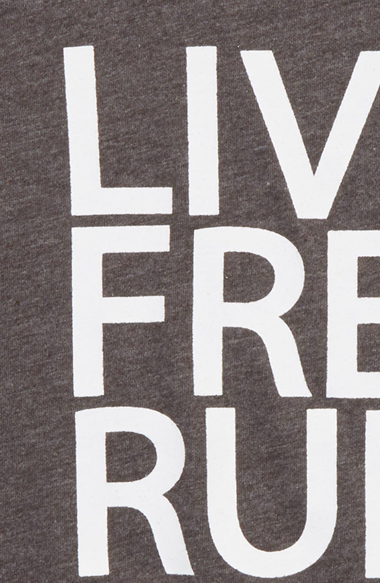 Live Free Run Free T-Shirt,                             Alternate thumbnail 2, color,                             020
