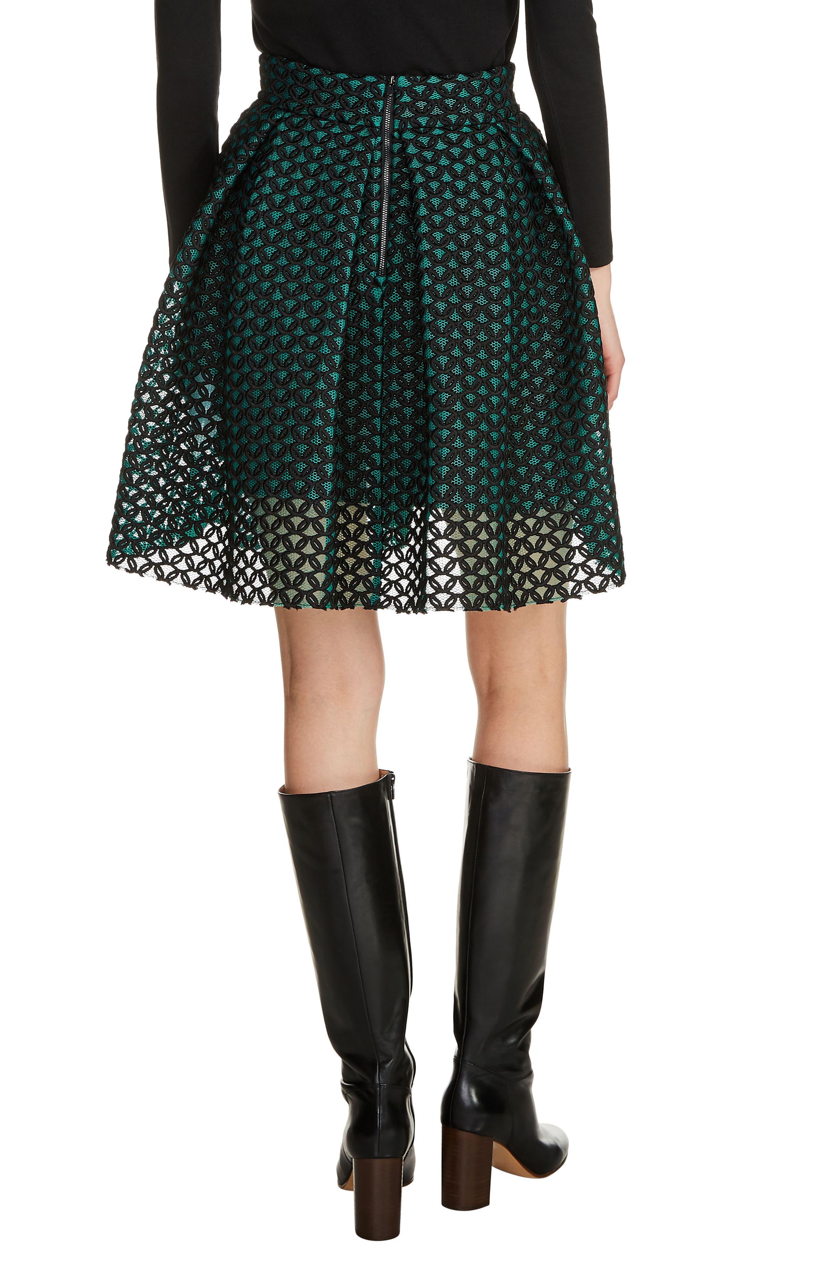 Guipure Skater Skirt,                             Alternate thumbnail 2, color,                             301