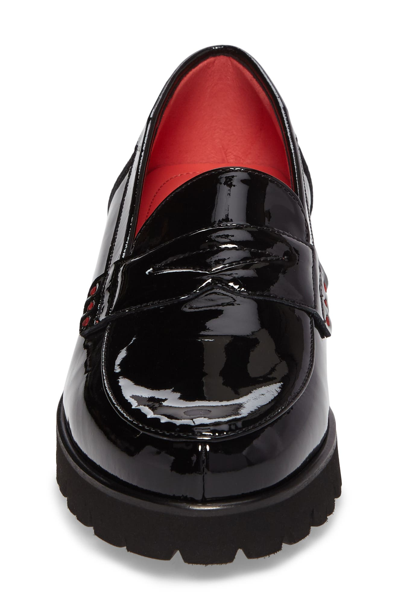 Classic Penny Loafer,                             Alternate thumbnail 4, color,                             BLACK PATENT LEATHER
