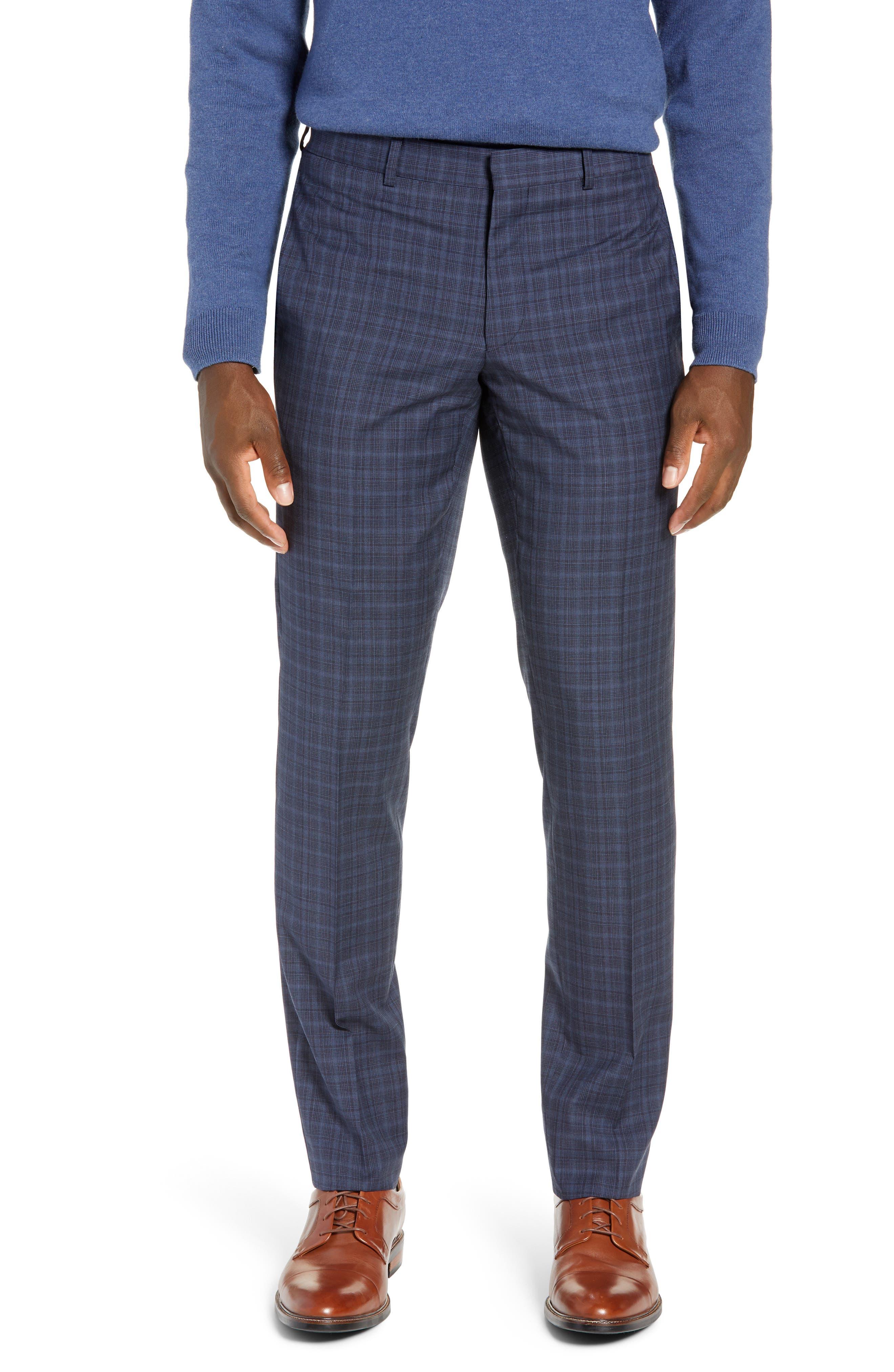 TED BAKER LONDON,                             Roger Slim Fit Plaid Wool Suit,                             Alternate thumbnail 6, color,                             GREY