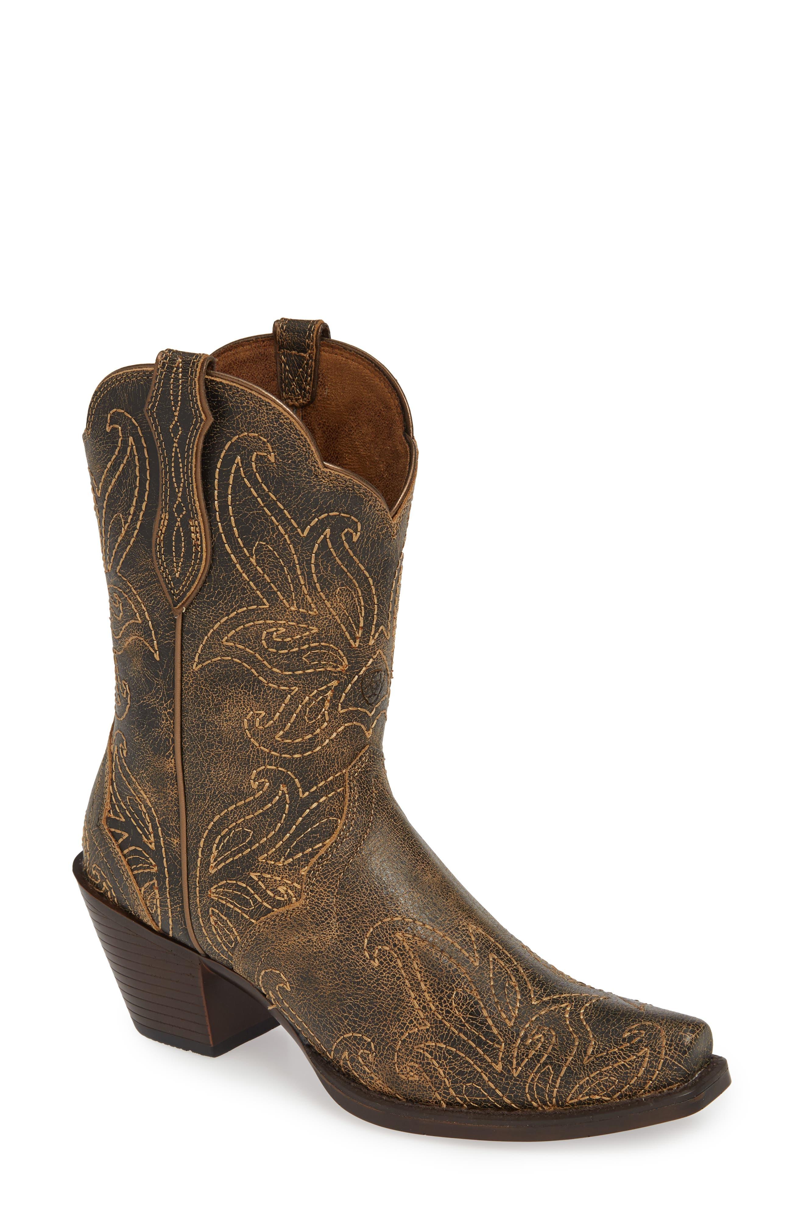 Ariat Bellatrix Western Boot- Brown