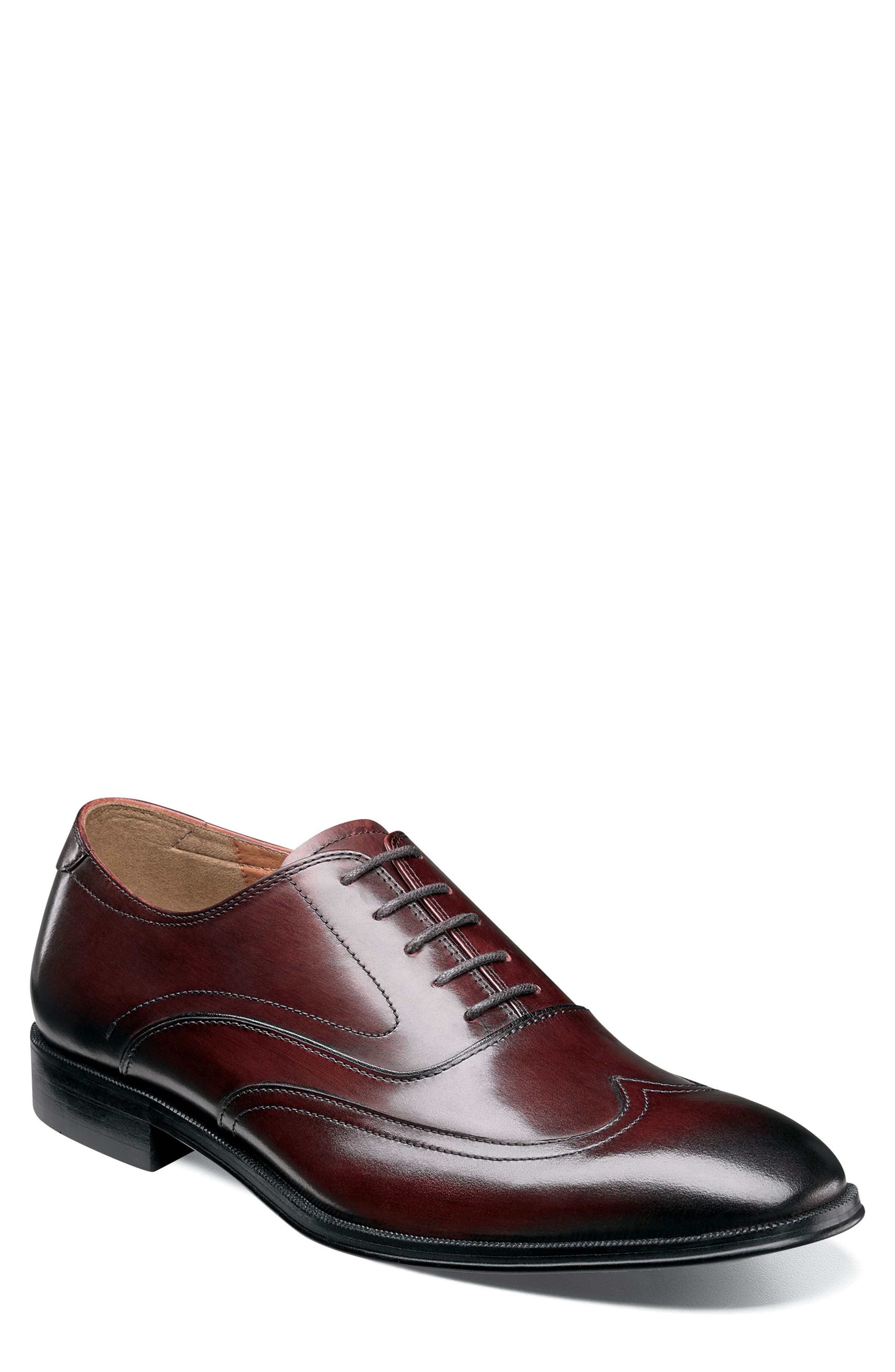 Belfast Wingtip,                         Main,                         color, BURGUNDY LEATHER