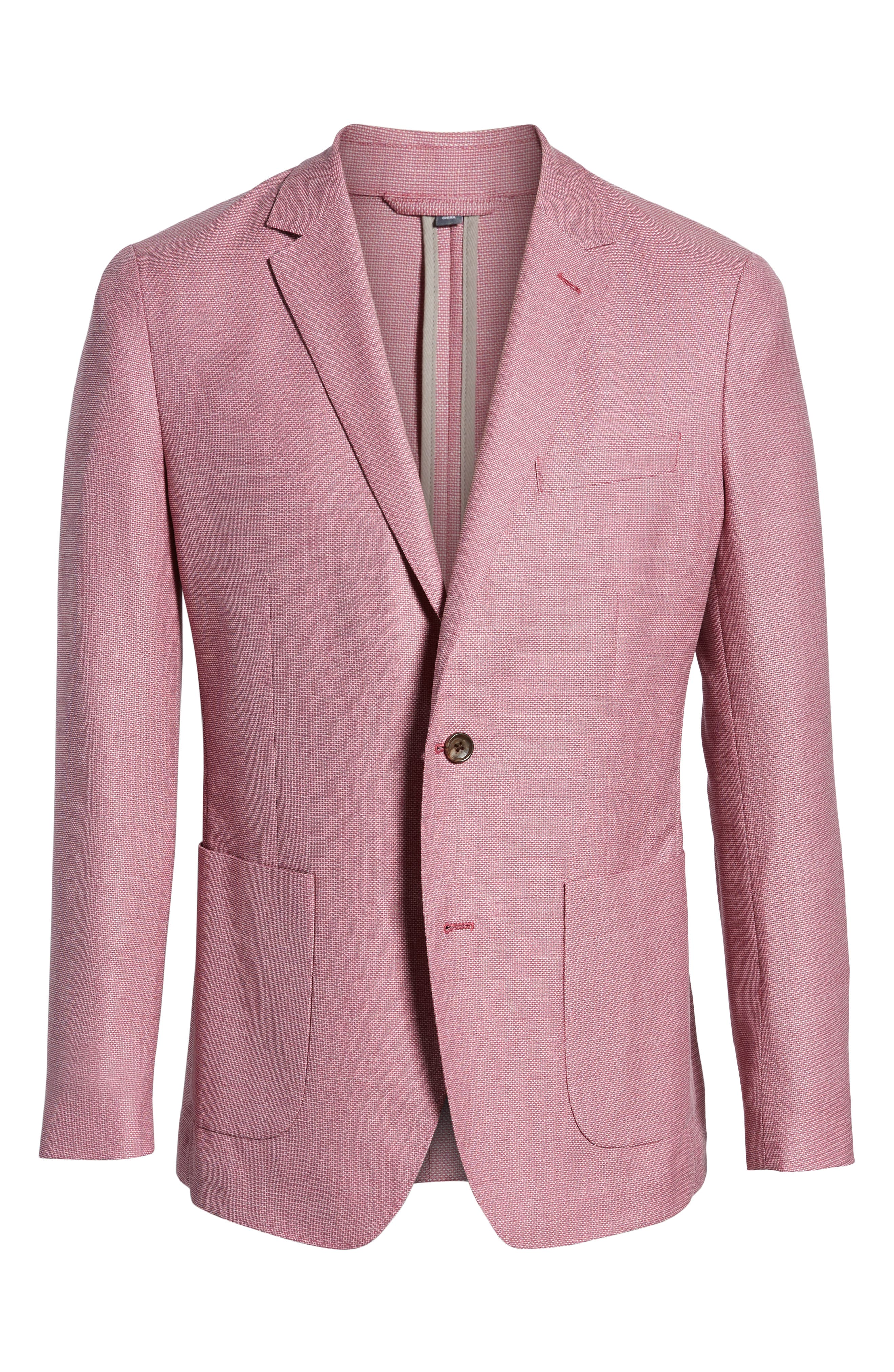 Trim Fit Wool Unconstructed Blazer,                             Alternate thumbnail 16, color,