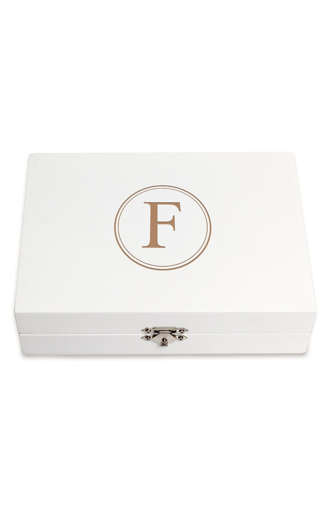Monogram Wooden Jewelry Box,                             Main thumbnail 35, color,