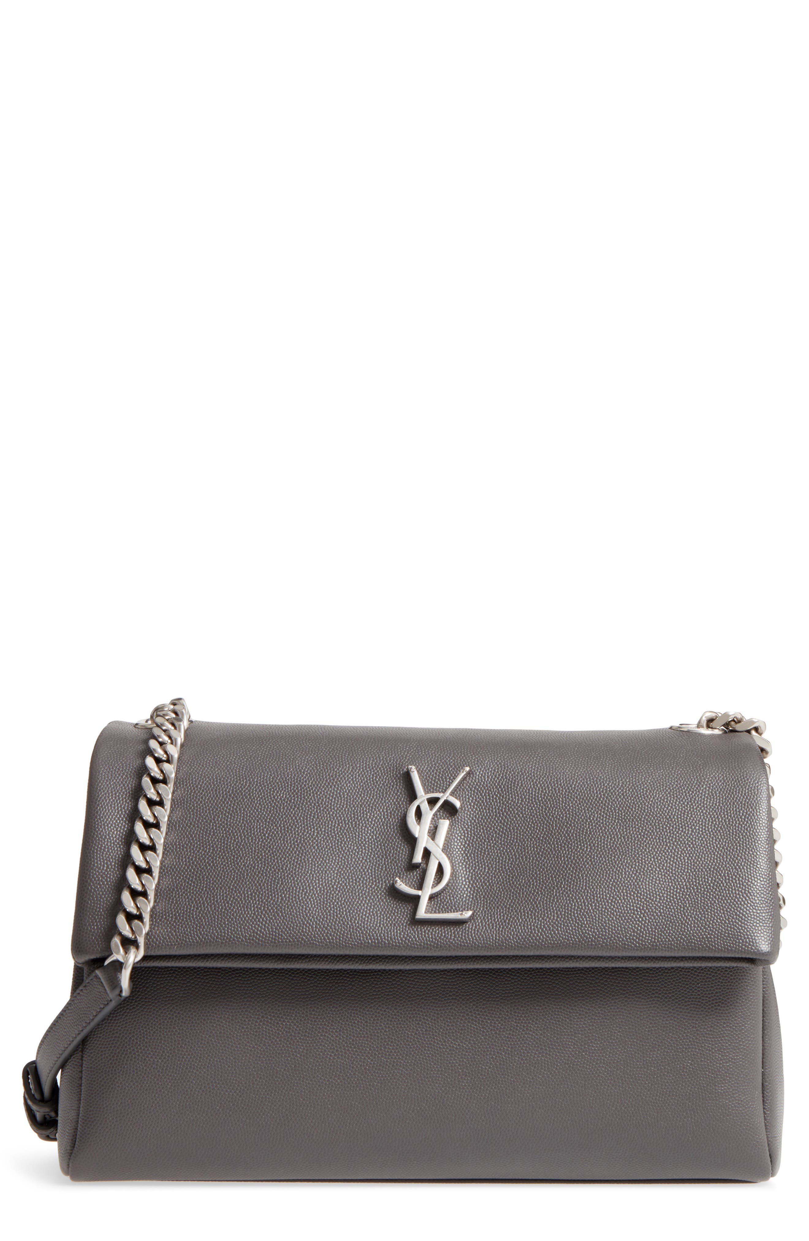 Medium West Hollywood Leather Shoulder Bag,                             Main thumbnail 1, color,