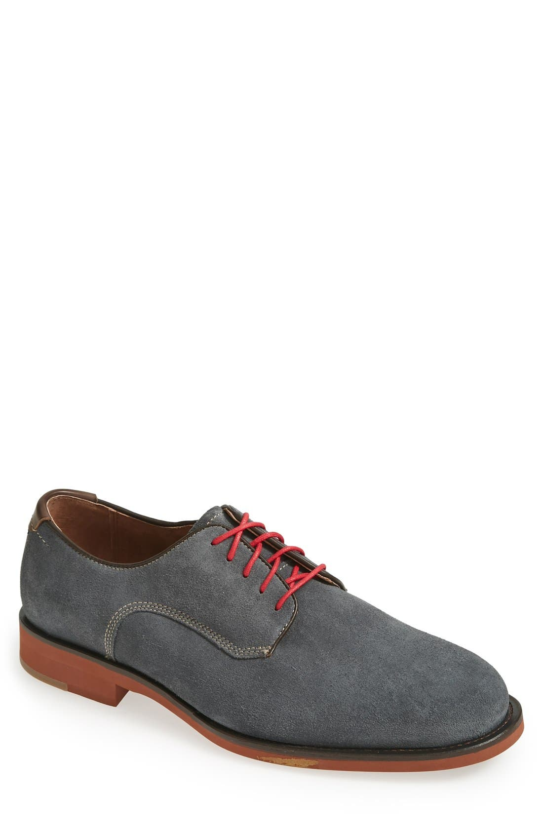 'Ellington' Suede Buck Shoe,                         Main,                         color, 020