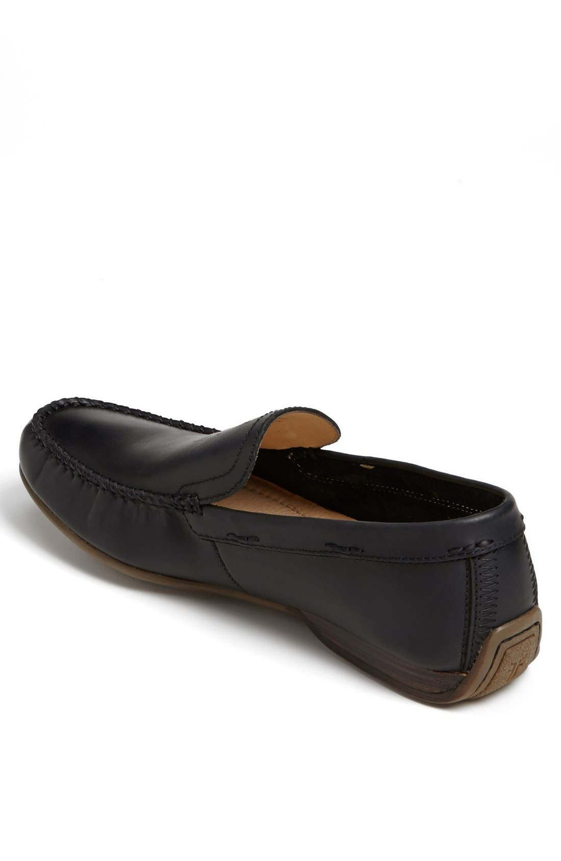 'Lewis' Venetian Loafer,                             Alternate thumbnail 2, color,                             BLACK
