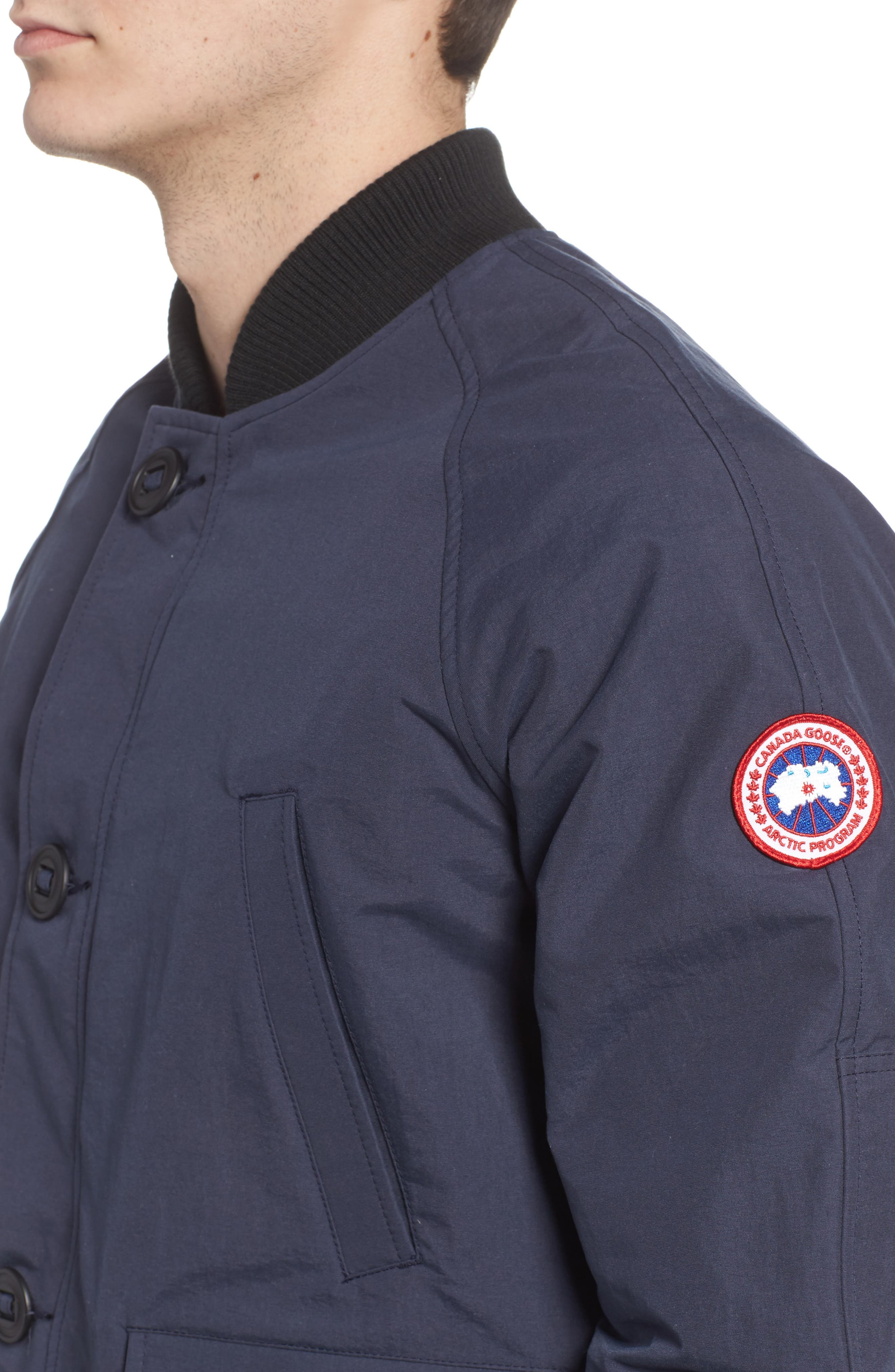 Faber Slim Fit Bomber Jacket,                             Alternate thumbnail 4, color,                             400