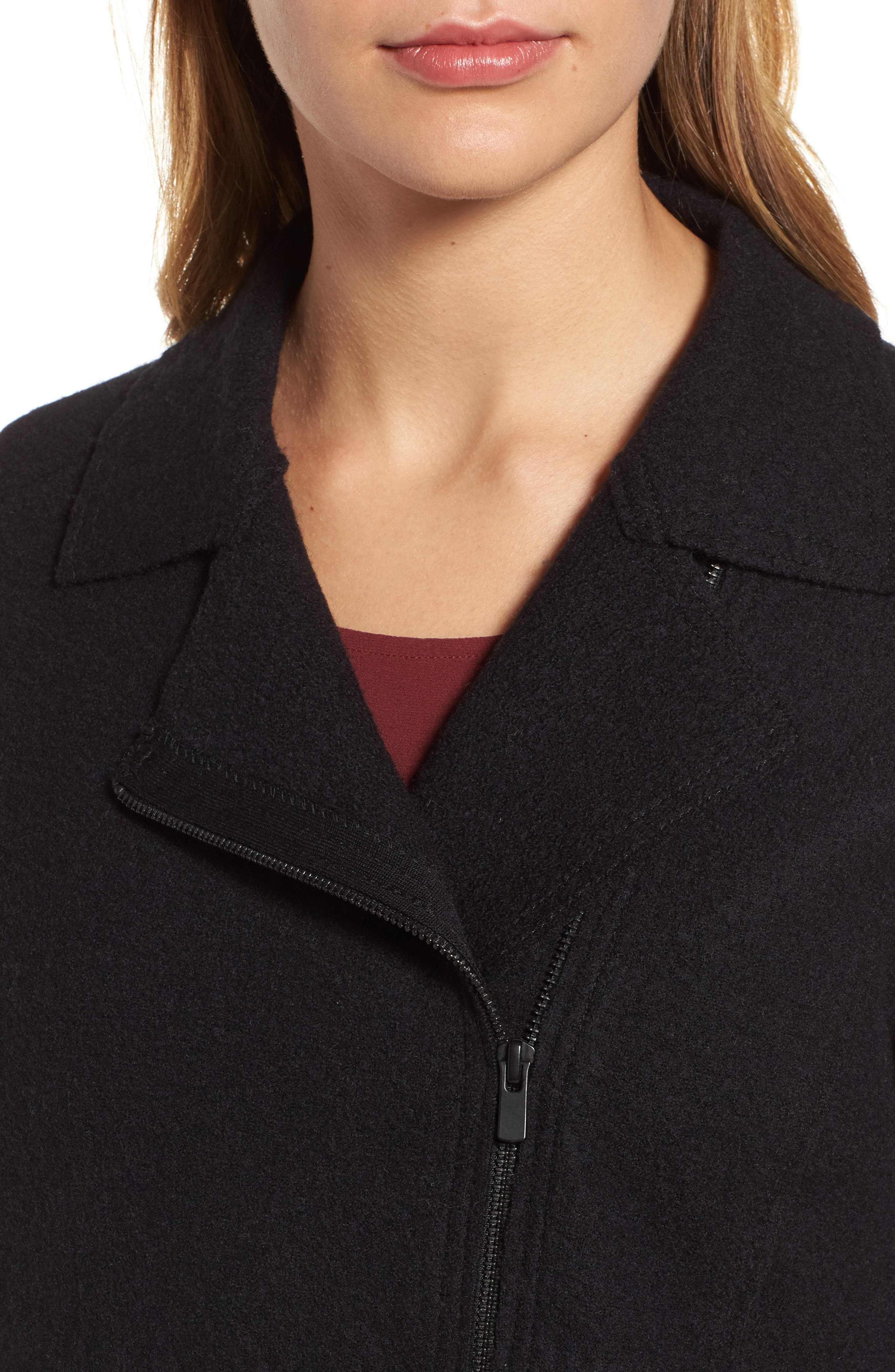 Boiled Wool Moto Jacket,                             Alternate thumbnail 13, color,