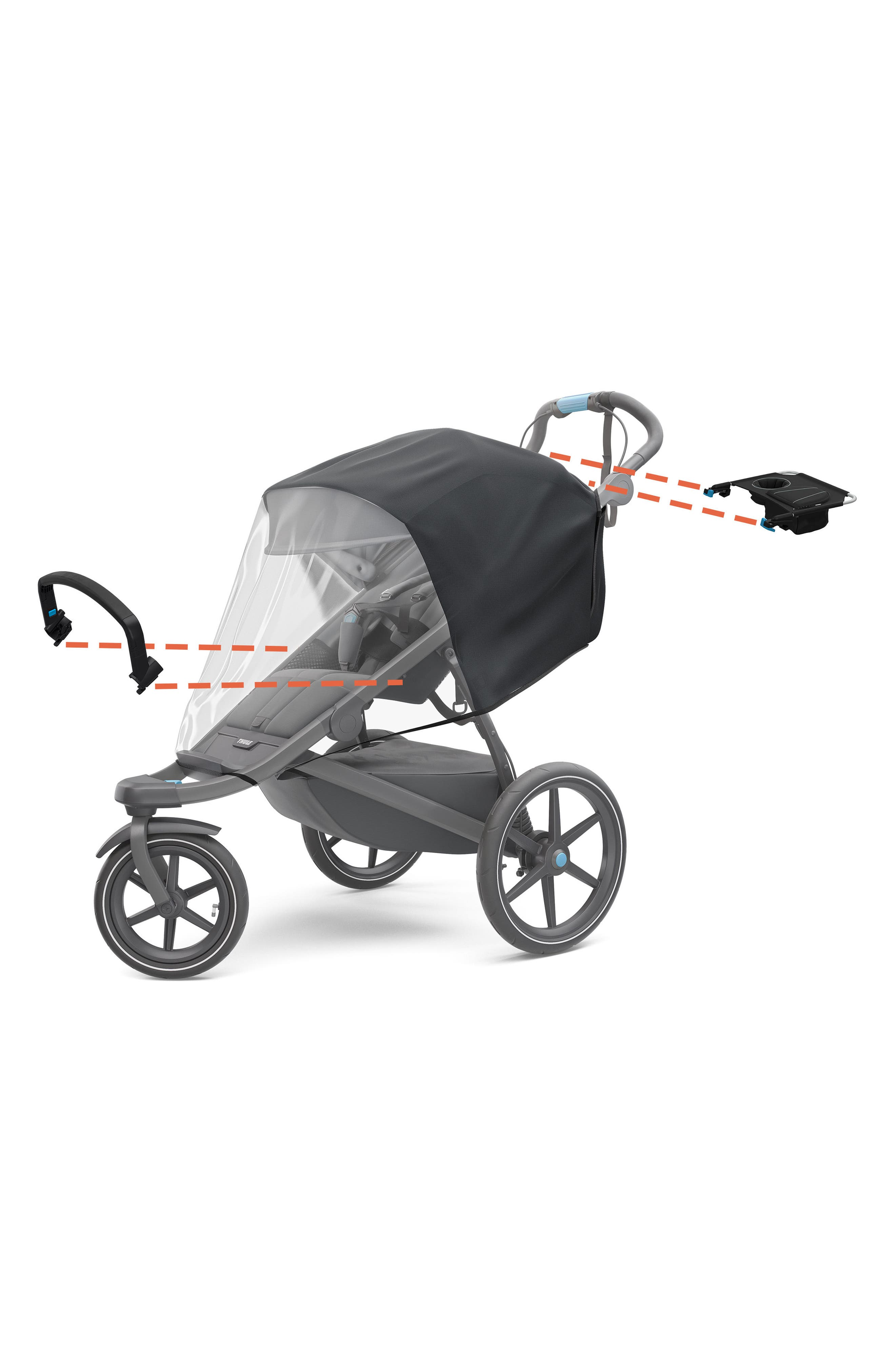 Urban Glide 2 On-the-Go Stroller Bundle,                             Alternate thumbnail 2, color,                             BLACK/ BLACK