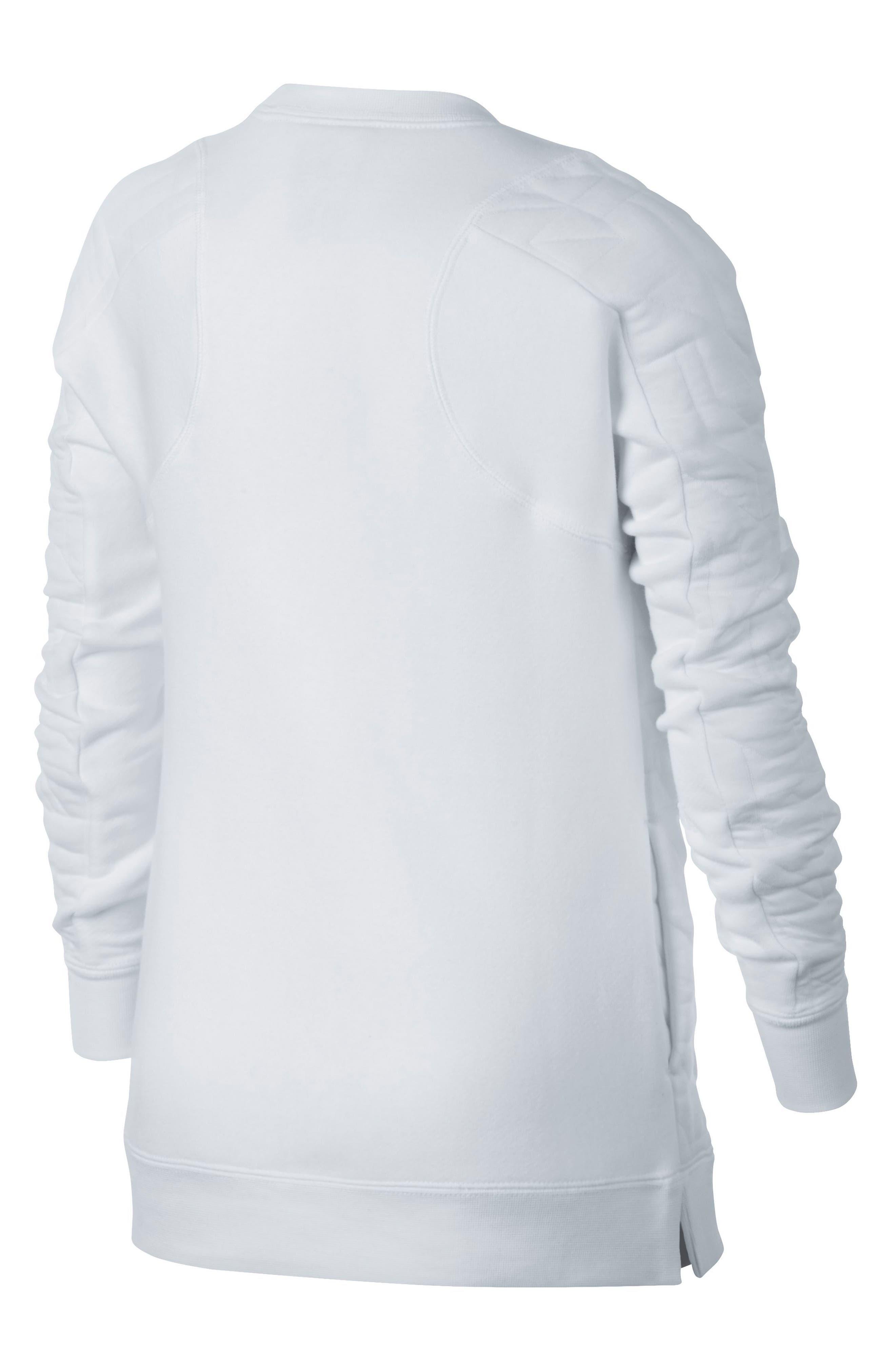 Modern Matelassé Sweatshirt,                             Alternate thumbnail 6, color,