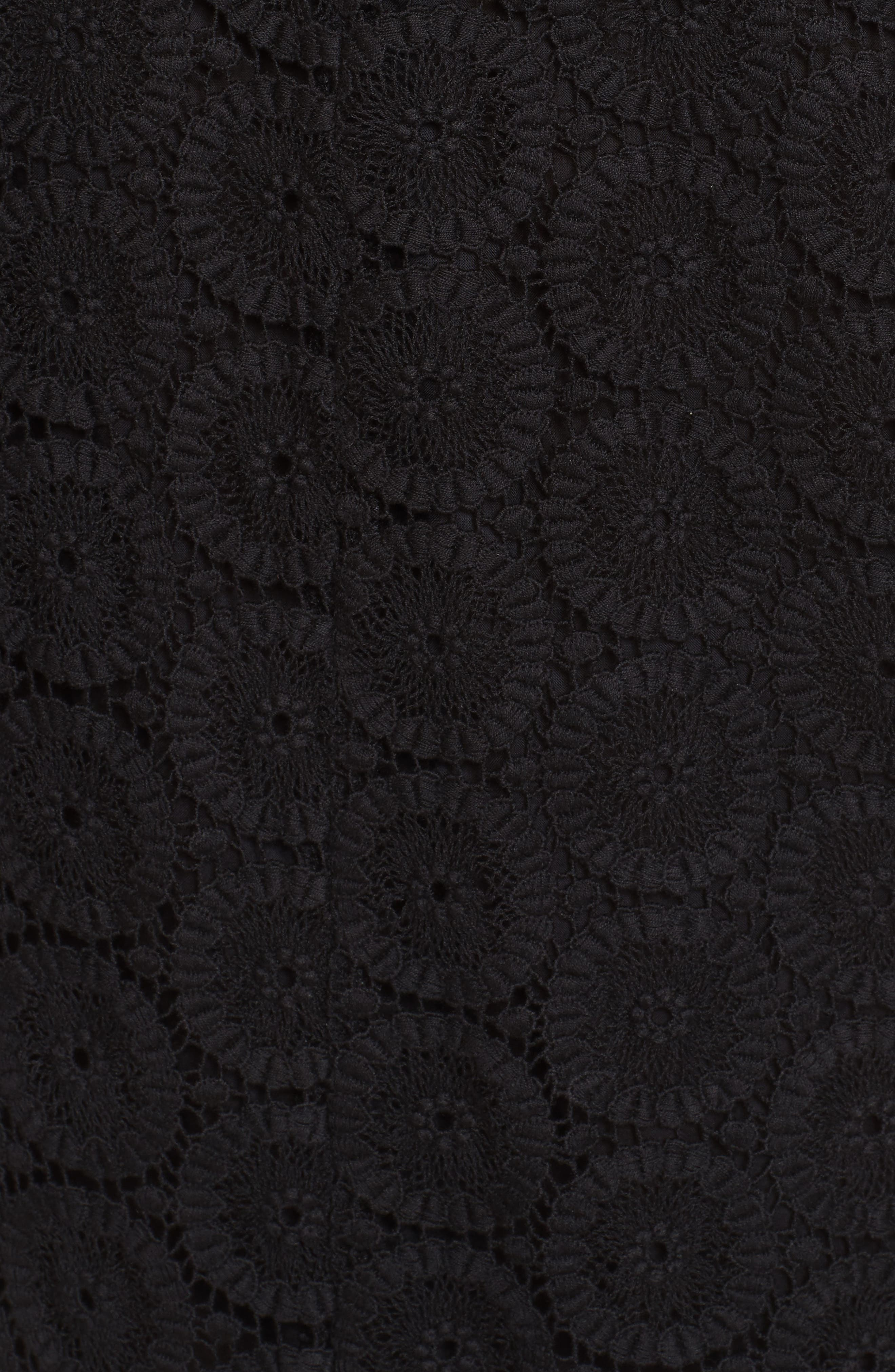 Cotton Crochet Shift Dress,                             Alternate thumbnail 5, color,                             001
