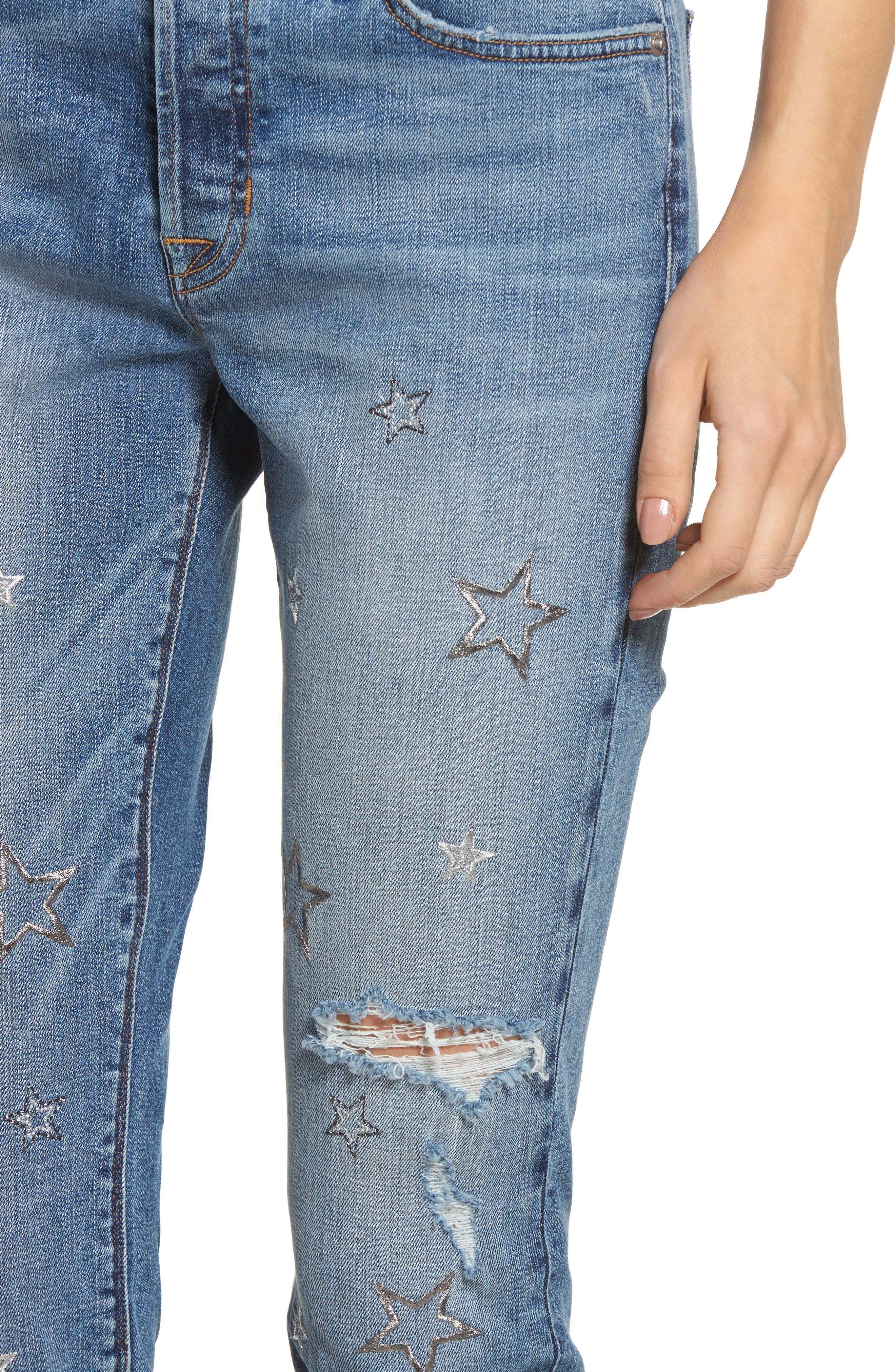 Crop Riley Relaxed Straight Leg Jeans,                             Alternate thumbnail 4, color,                             402