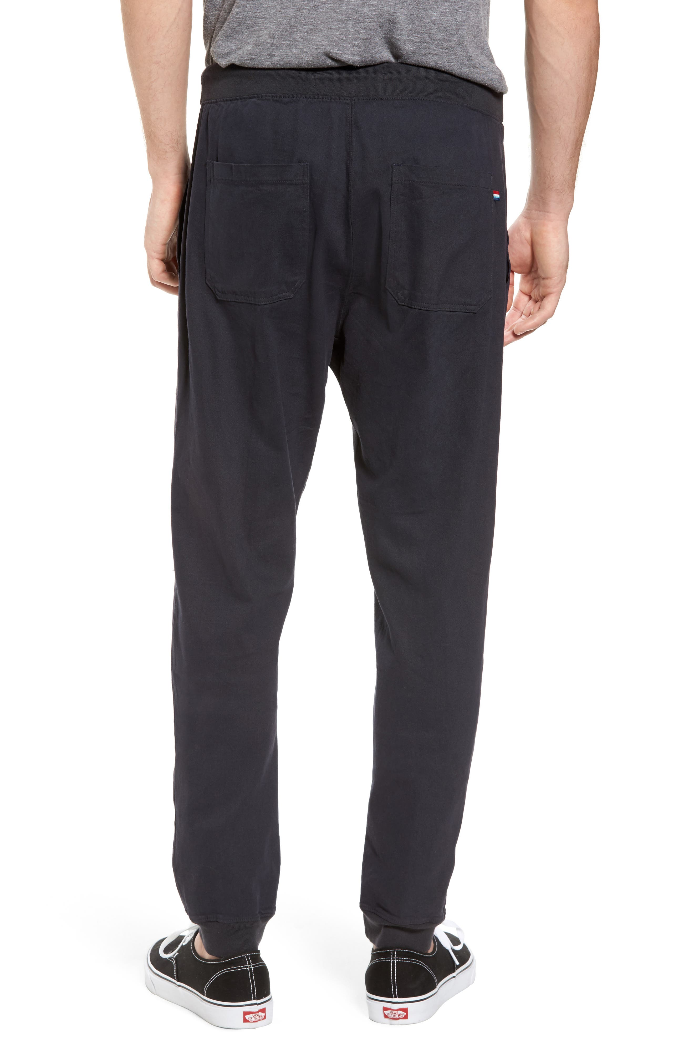 Essential Twill Jogger Pants,                             Alternate thumbnail 2, color,                             002