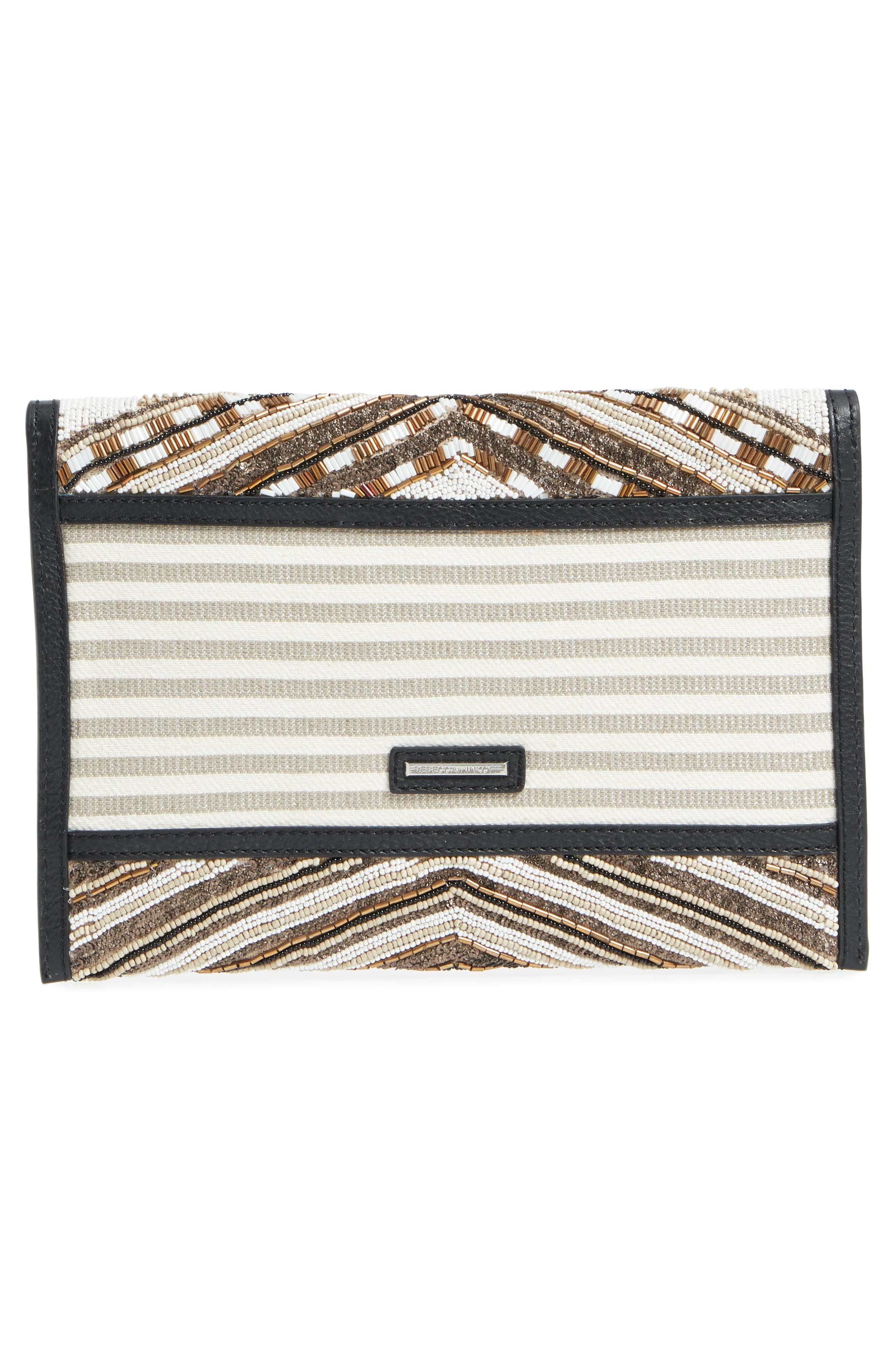 Leo Beaded Clutch,                             Alternate thumbnail 3, color,