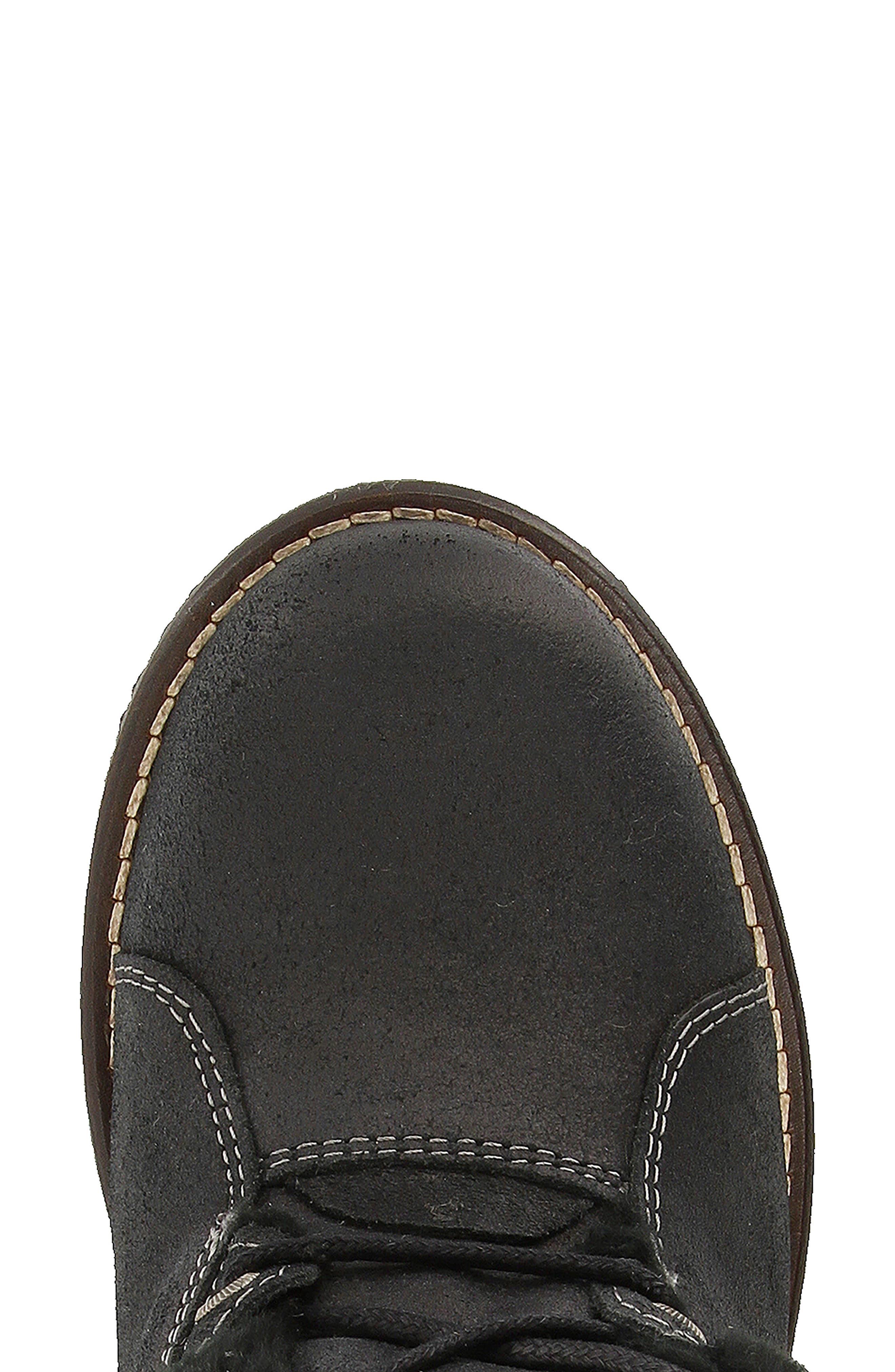 Furkle Boot with Faux Fur Trim,                             Alternate thumbnail 4, color,                             002