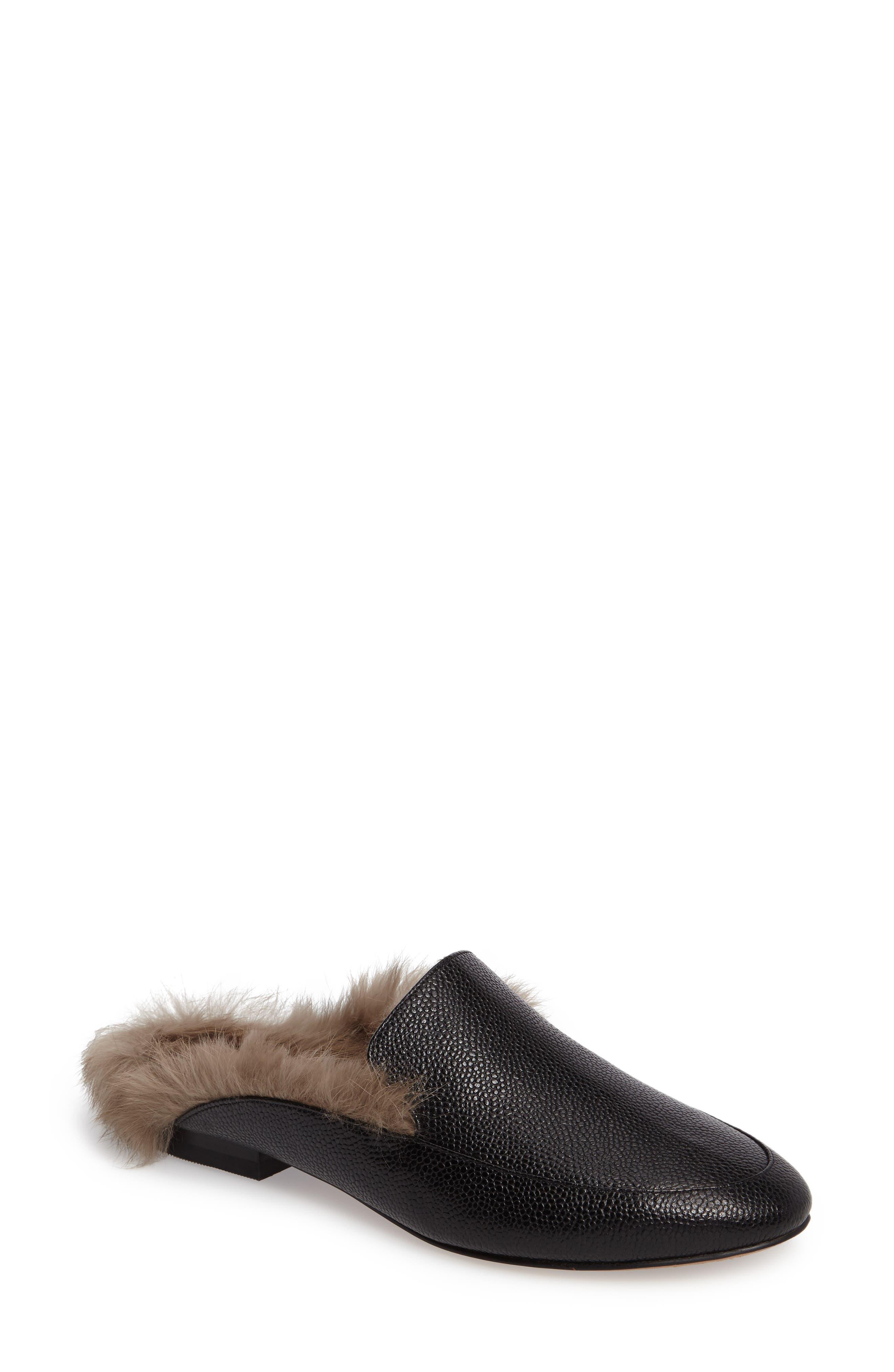 Asha Genuine Rabbit Fur Mule,                         Main,                         color, 007