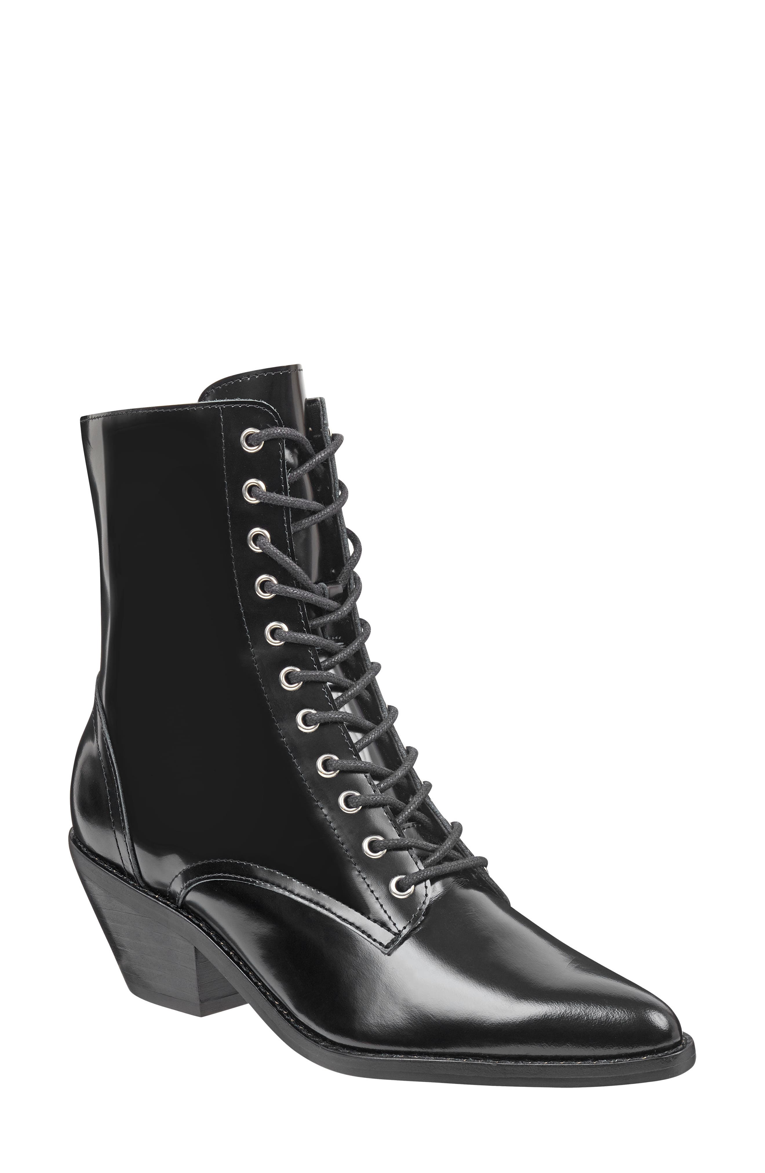 Marc Fisher Ltd Bowie Lace-Up Boot- Black