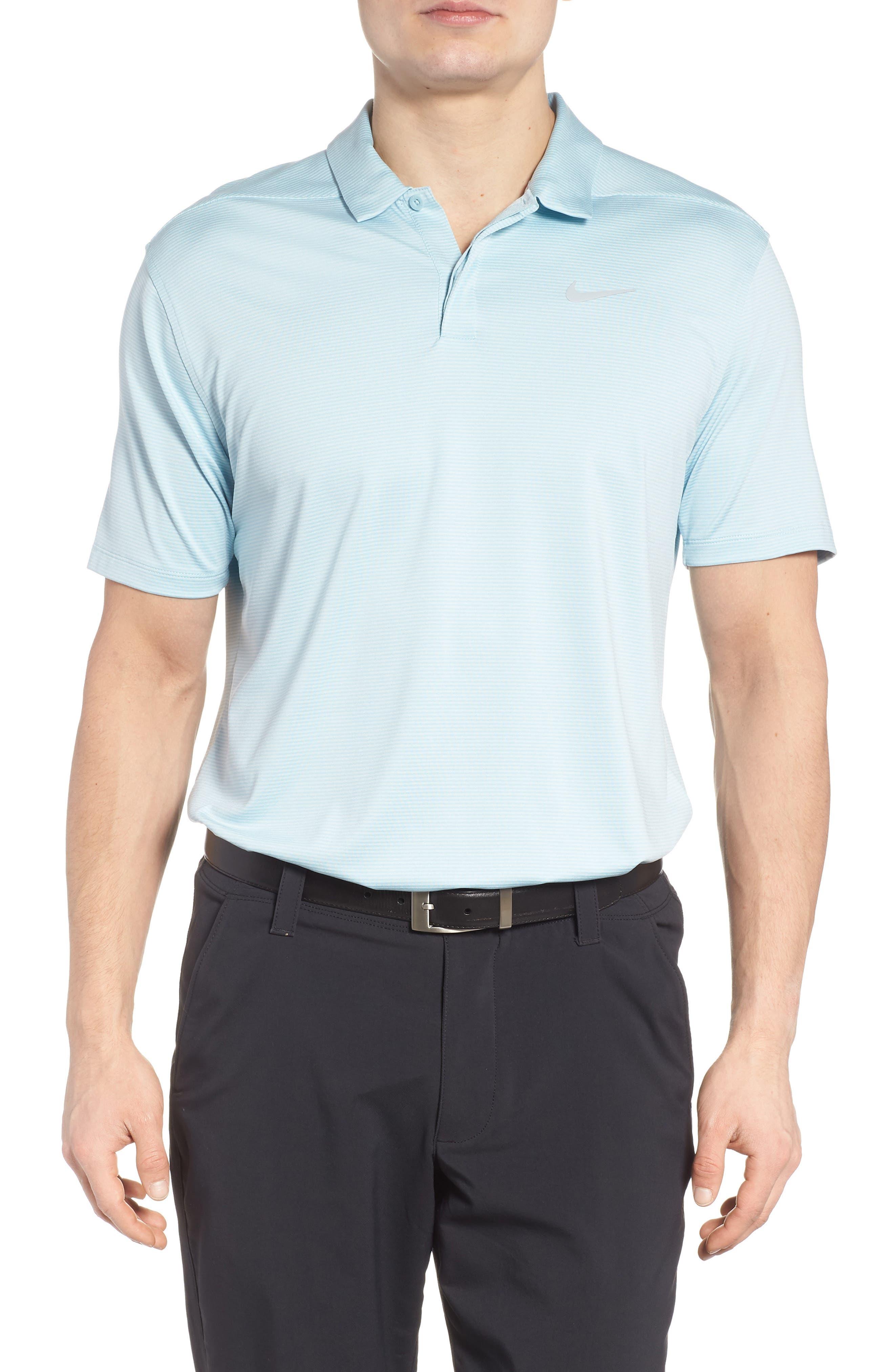 Dry Polo Shirt,                         Main,                         color, OCEAN BLISS/ SILVER