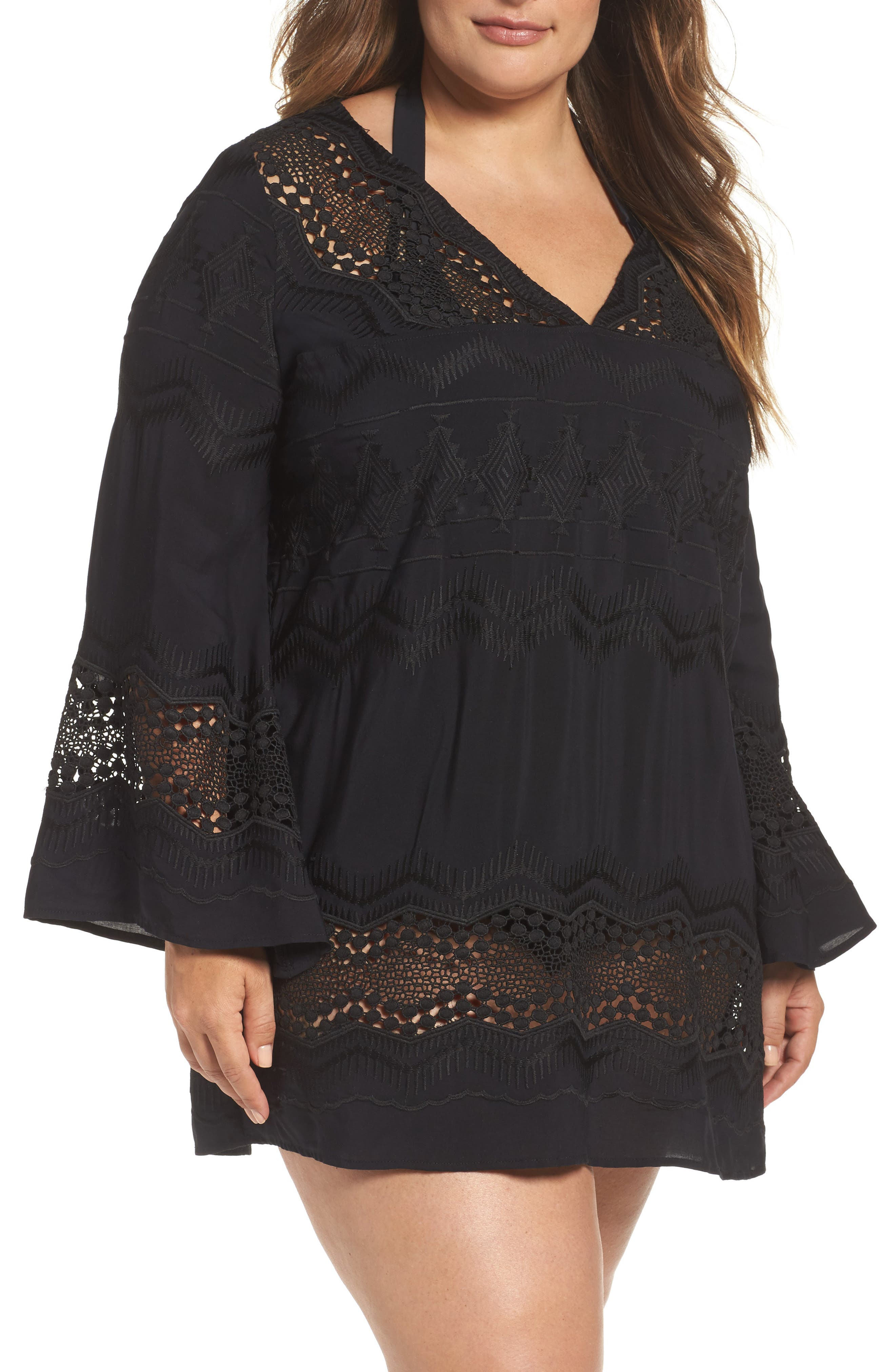 Plus Size La Blanca Cover-Up Tunic, Black