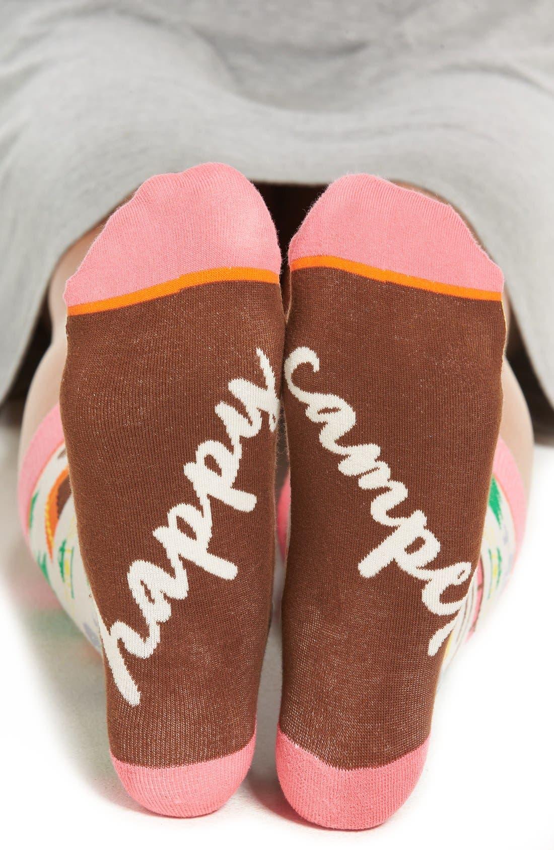 WOVEN PEAR 'Happy Camper' Crew Socks, Main, color, 650