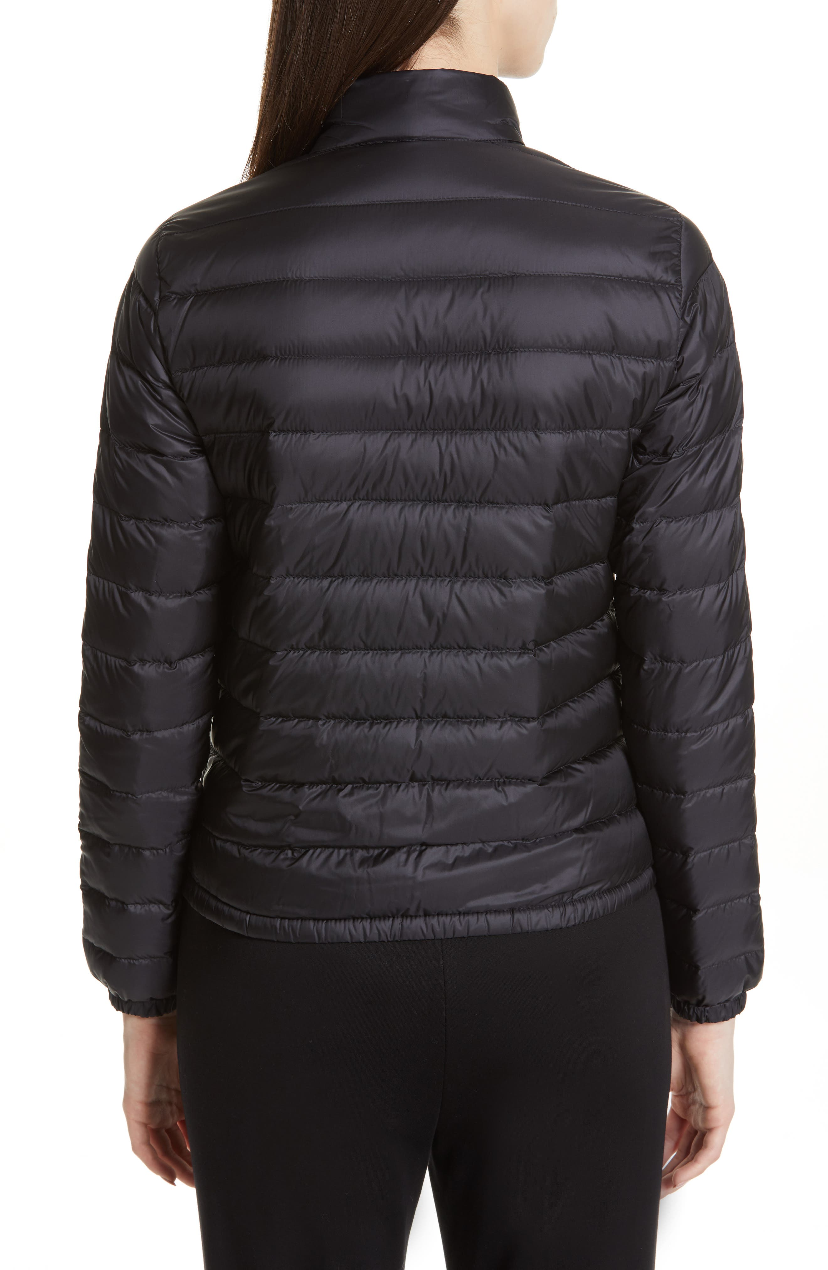 Lans Water Resistant Quilted Down Jacket,                             Alternate thumbnail 2, color,                             BLACK