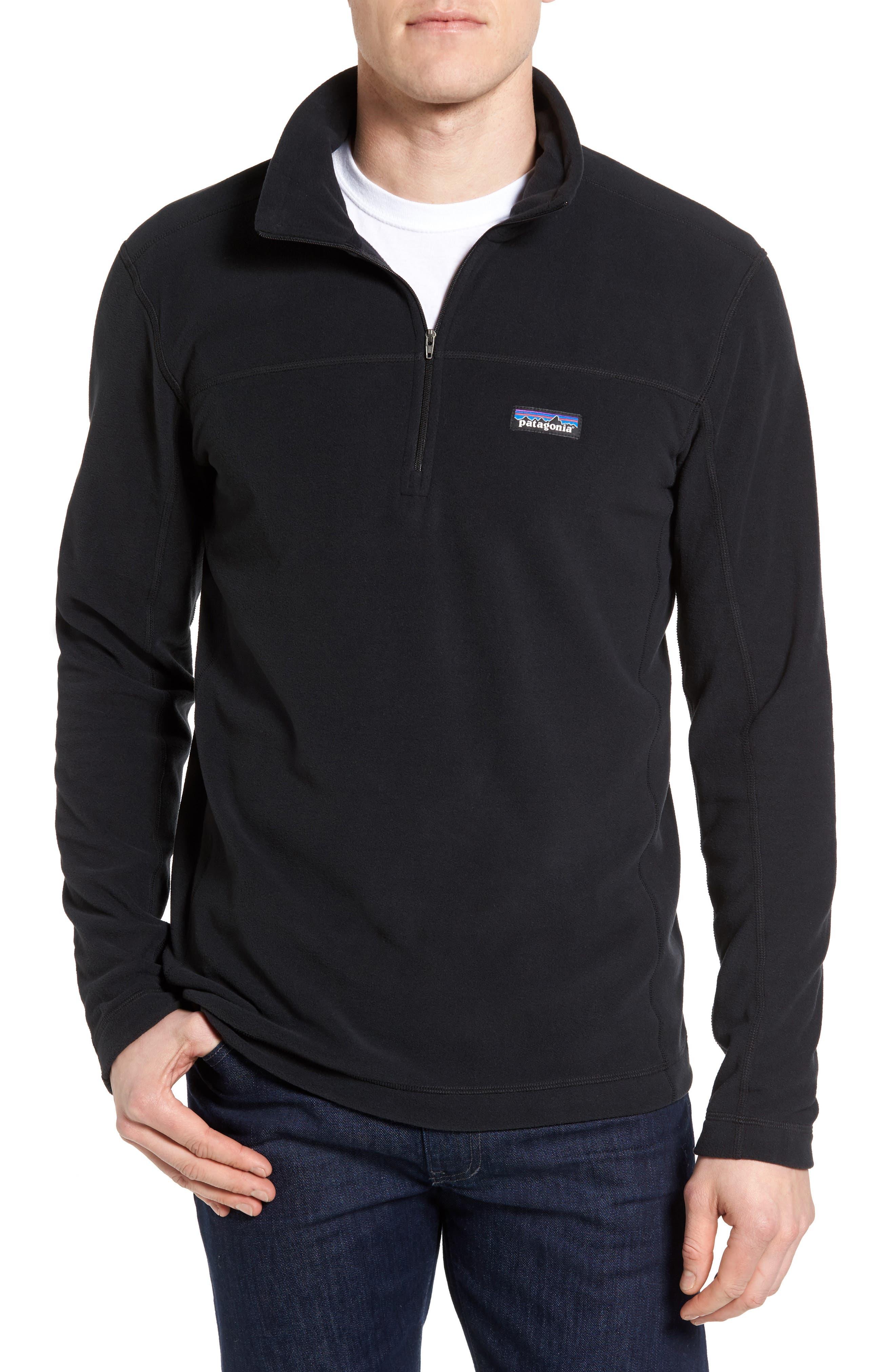 Fleece Pullover,                             Main thumbnail 1, color,                             BLACK