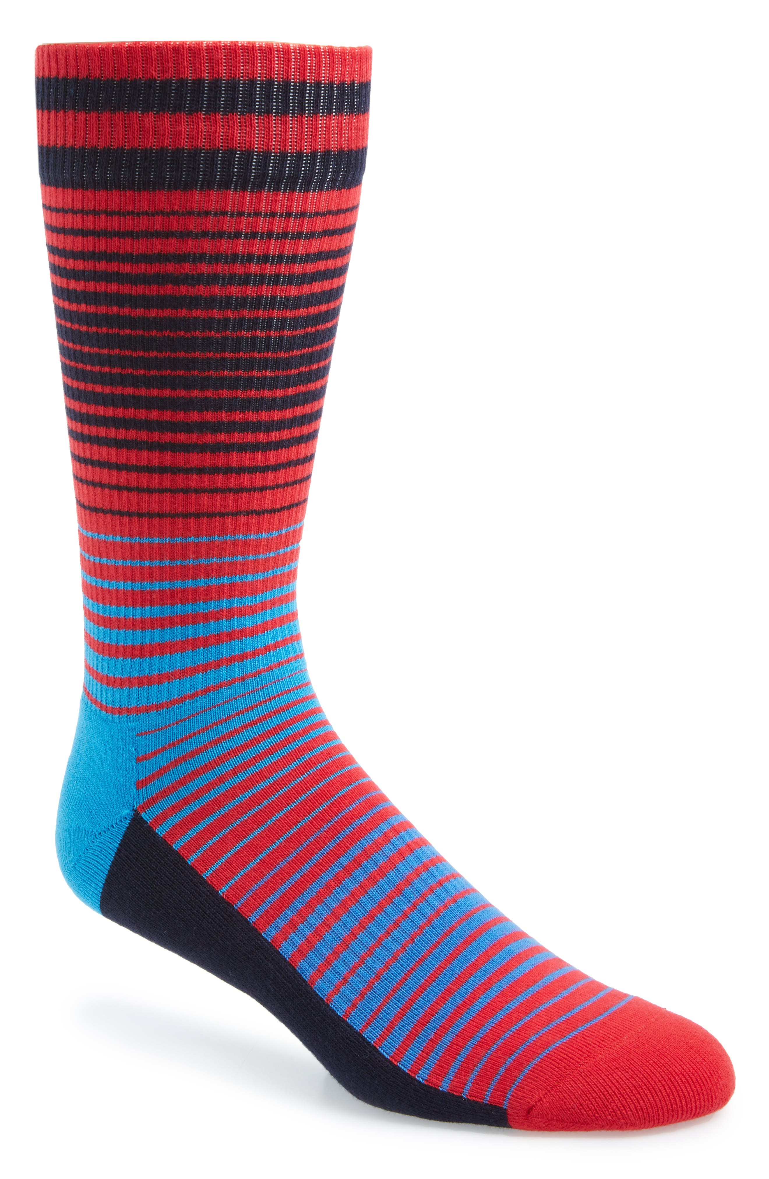 Sunrise Athletic Socks,                         Main,                         color, RED