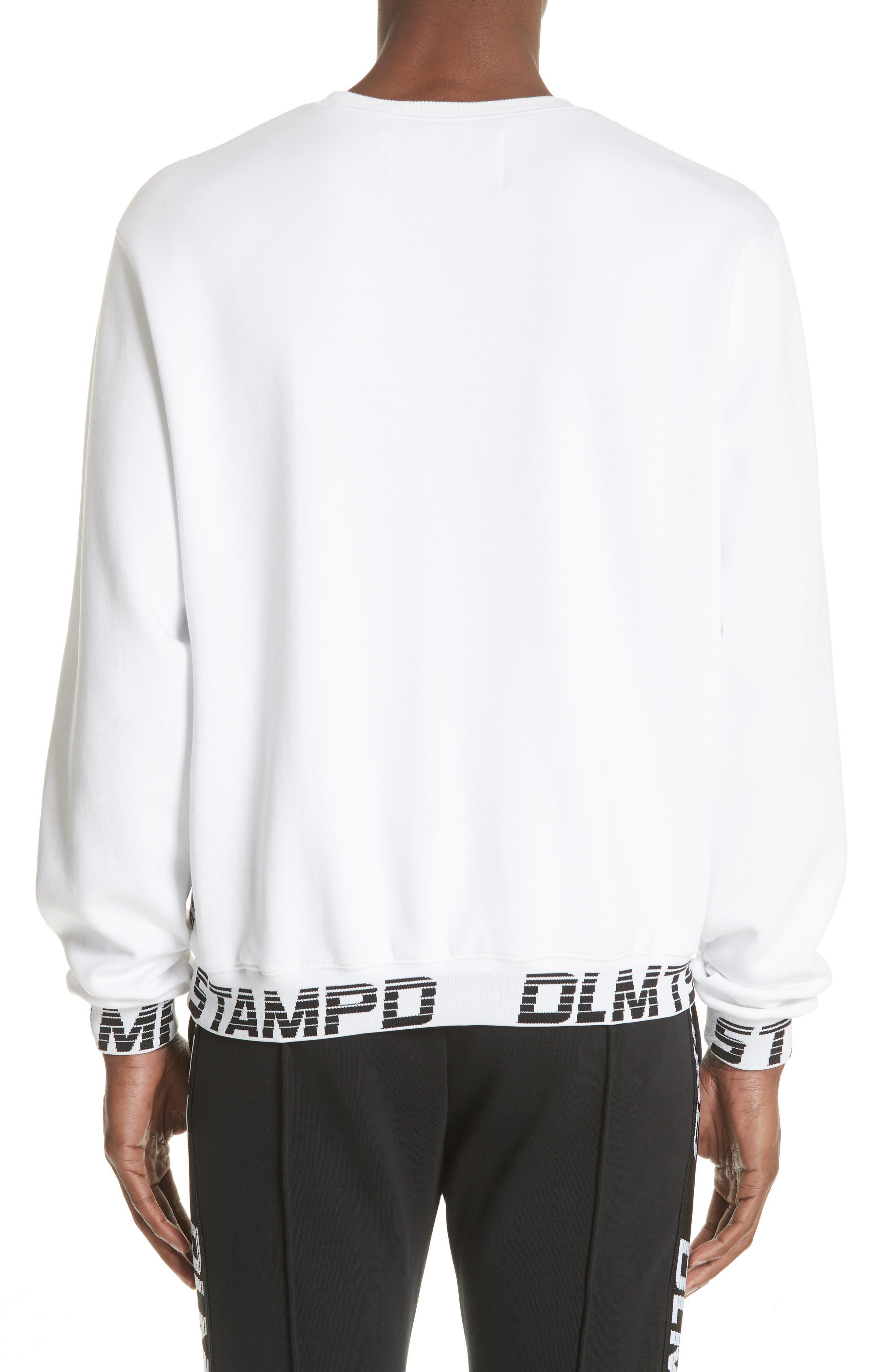 Driver Crewneck Sweatshirt,                             Alternate thumbnail 2, color,                             WHITE