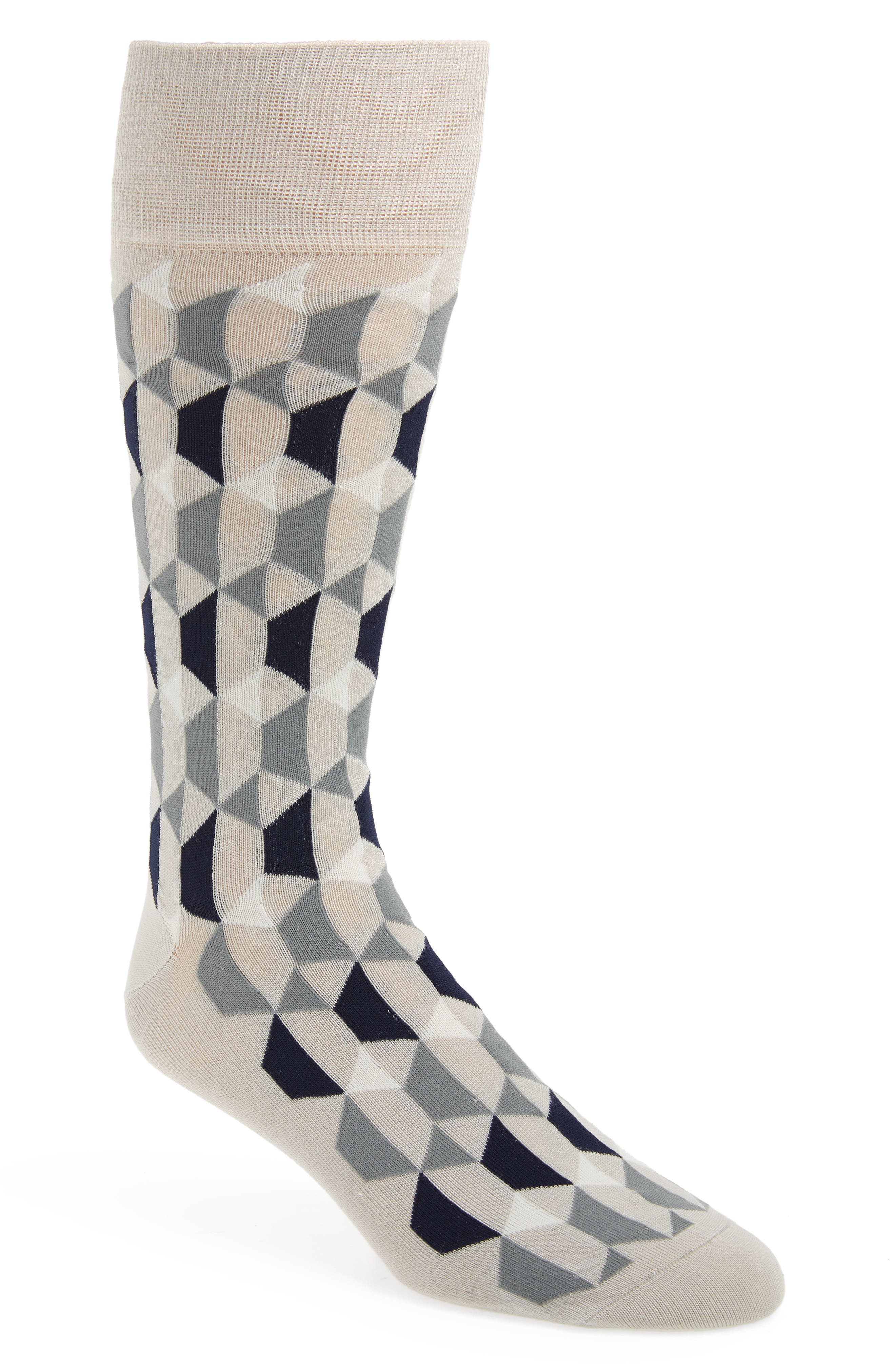 Geometric Socks,                         Main,                         color, 030