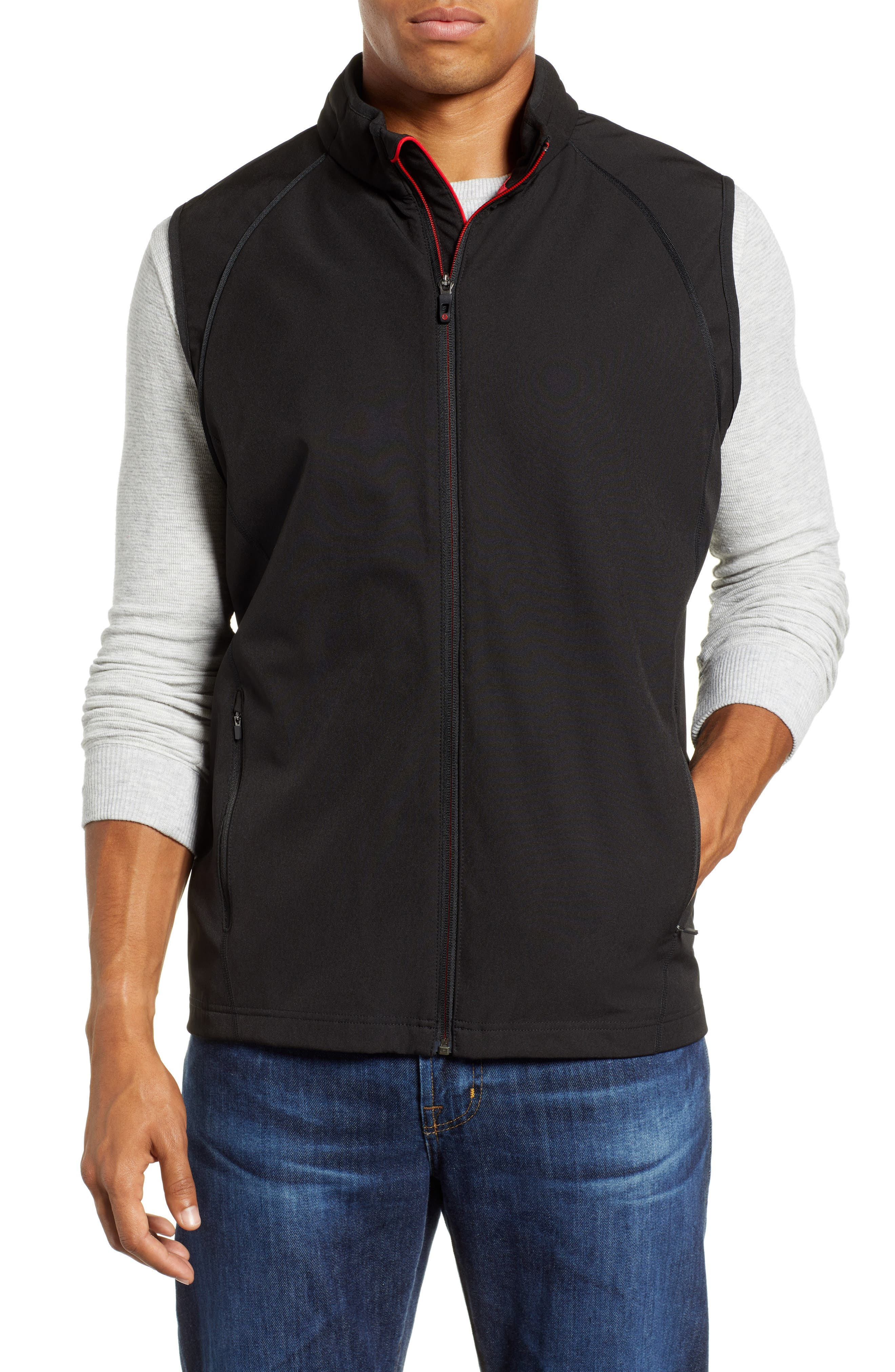 Hanson Water Repellent Convertible Jacket,                             Alternate thumbnail 2, color,                             BLACK