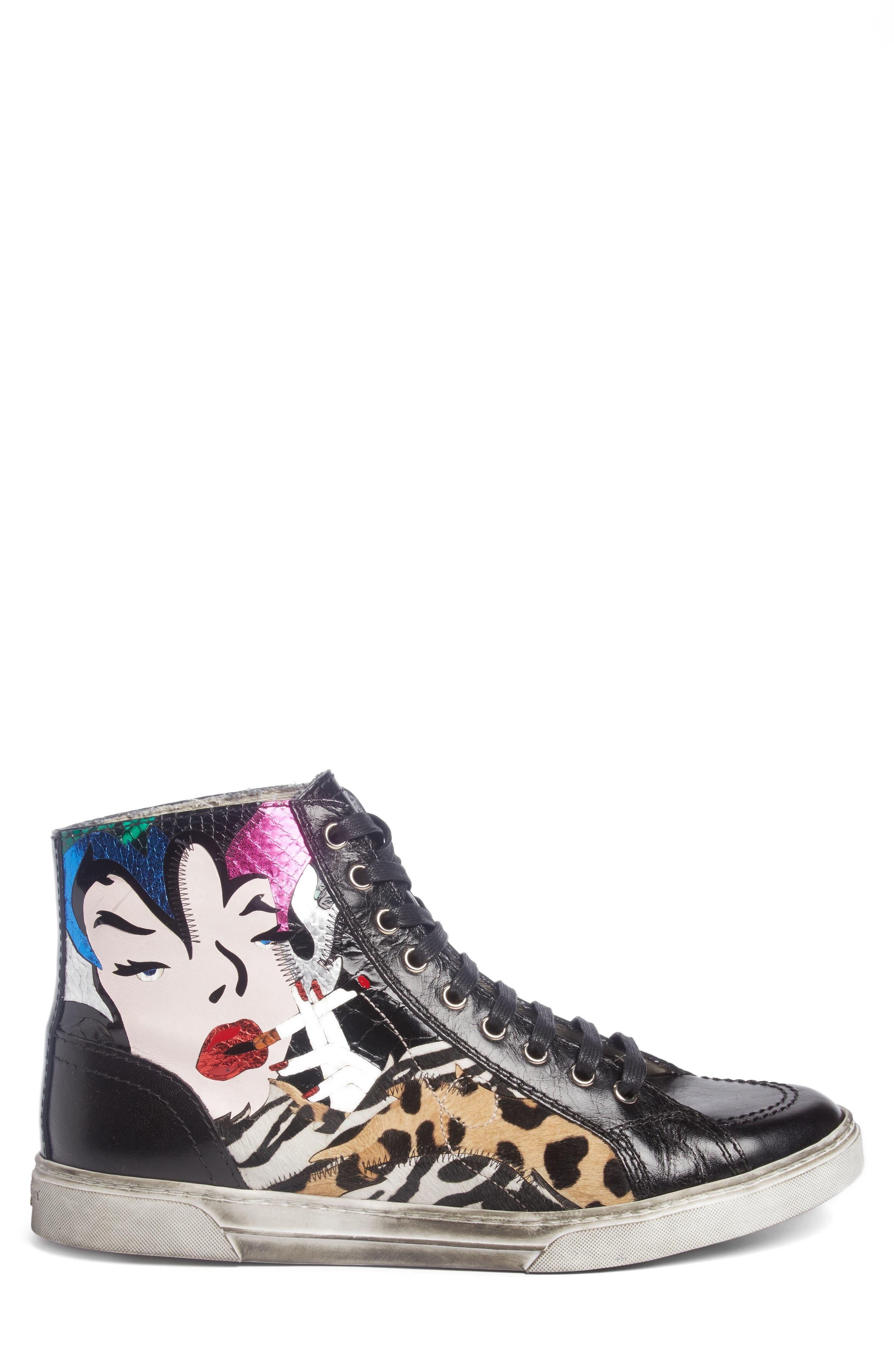Modern Art Sneaker,                             Alternate thumbnail 3, color,                             009